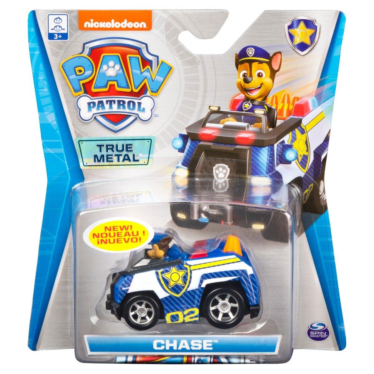 Masinuta cu figurina Paw Patrol True Metal, Chase 20121333