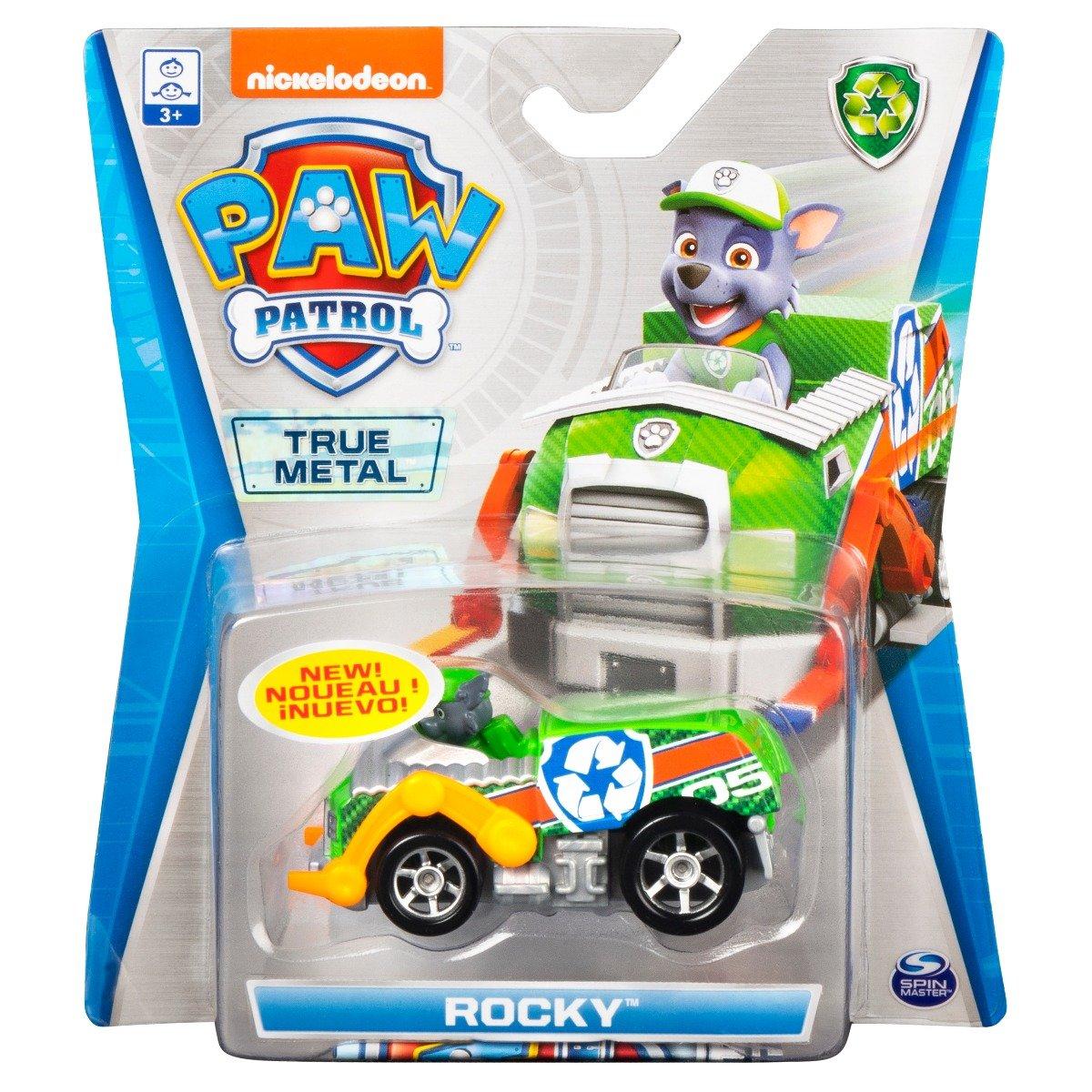 Masinuta cu figurina Paw Patrol True Metal, Rocky 20121334