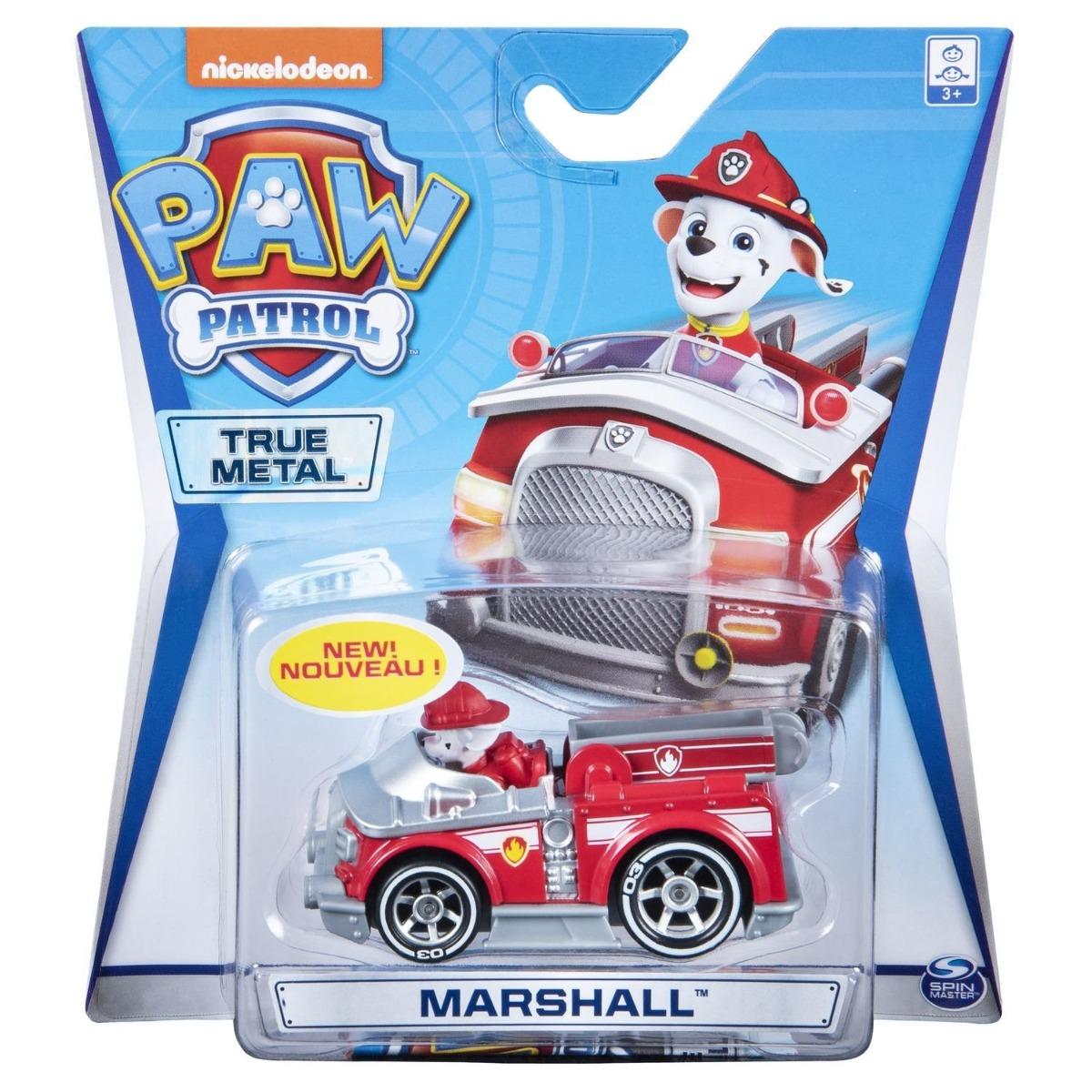 Masinuta cu figurina Paw Patrol True Metal, Marshall 20115875