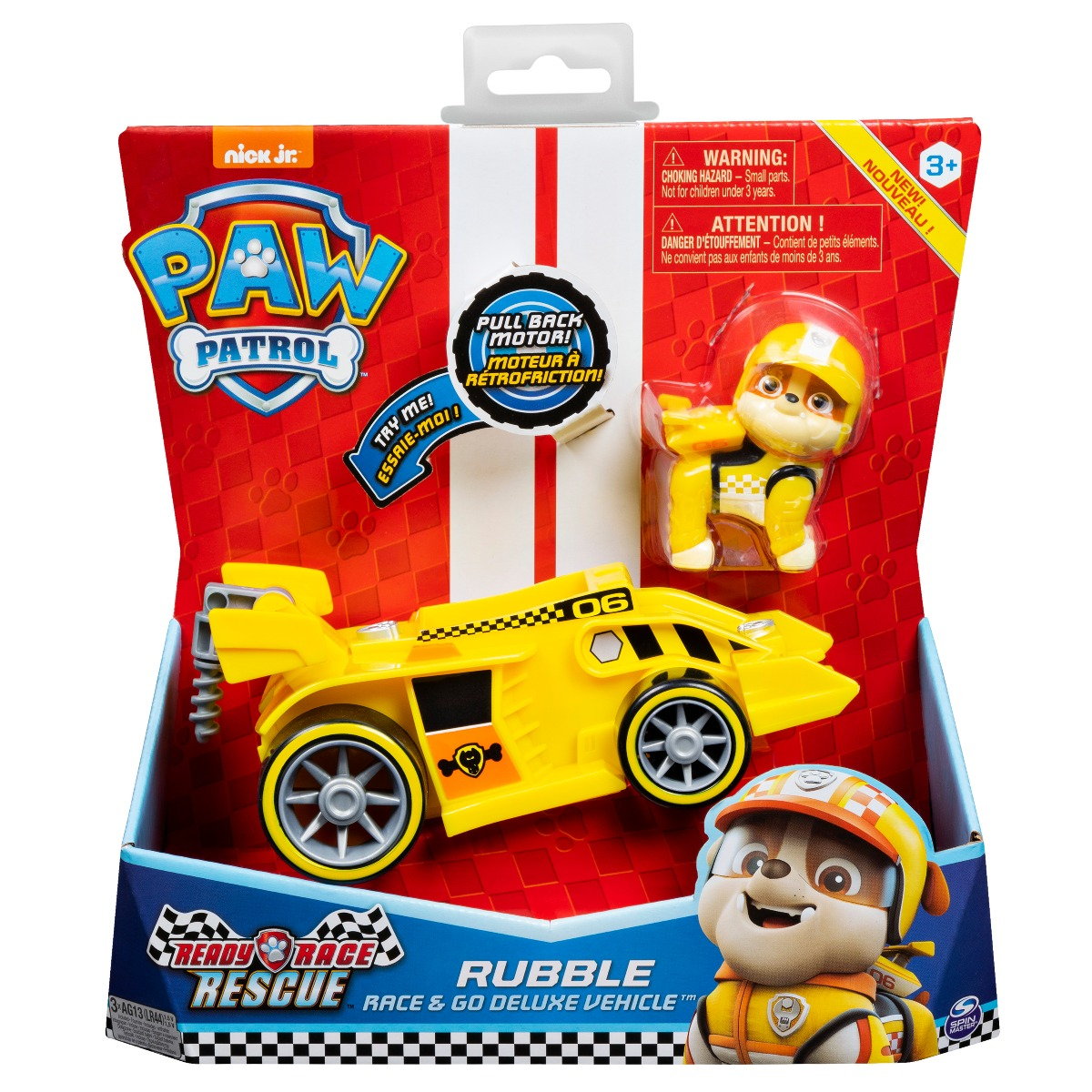 Masinuta cu figurina Paw Patrol Ready Race, Rubble 20119529