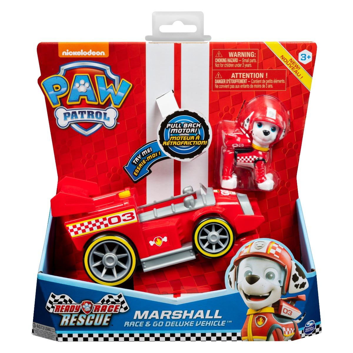Masinuta cu figurina Paw Patrol Ready Race, Marshall 20119527