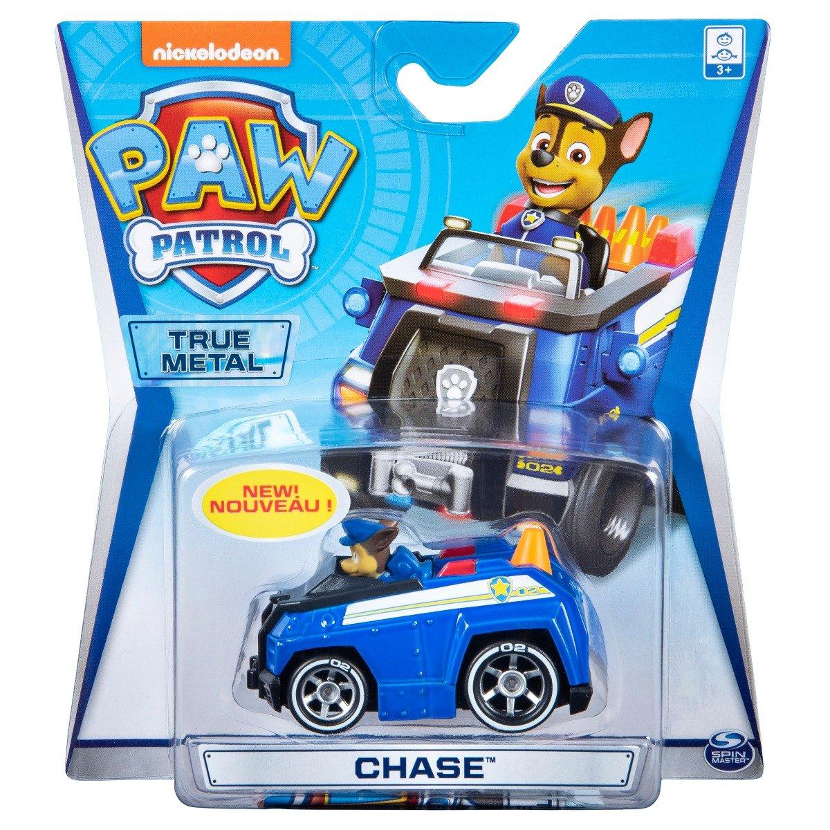 Masinuta cu figurina Paw Patrol True Metal, Chase 20127201