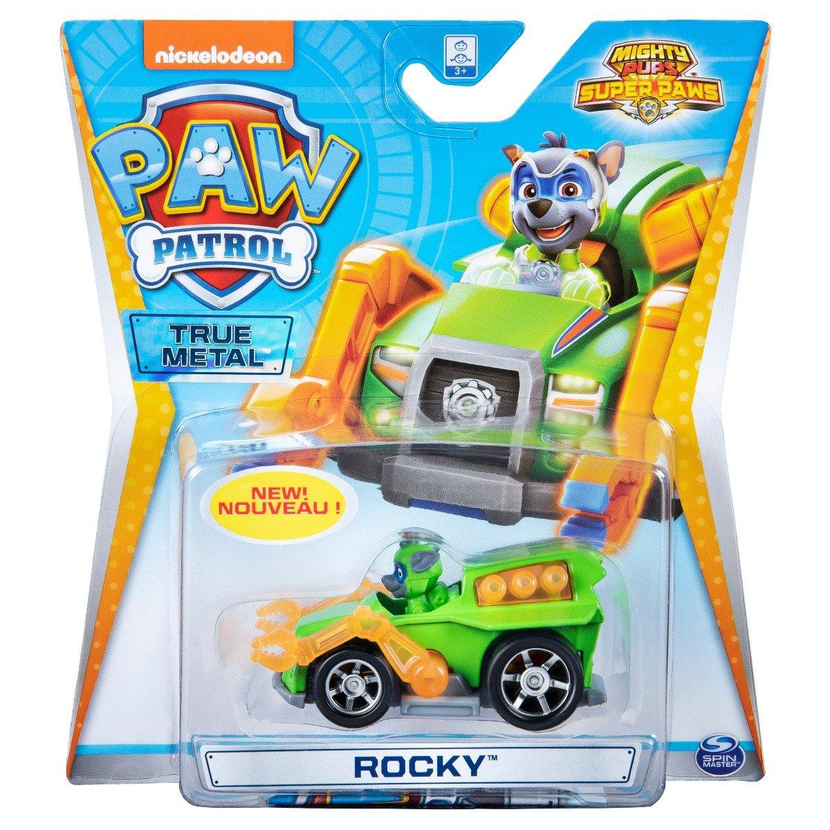 Masinuta cu figurina Paw Patrol True Metal, Rocky 20127208