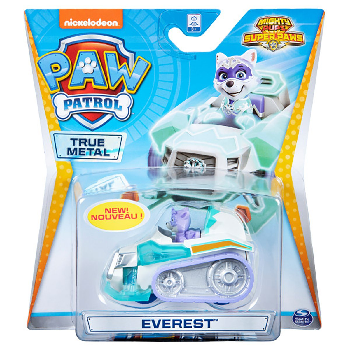 Masinuta cu figurina Paw Patrol True Metal, Everest 20127219