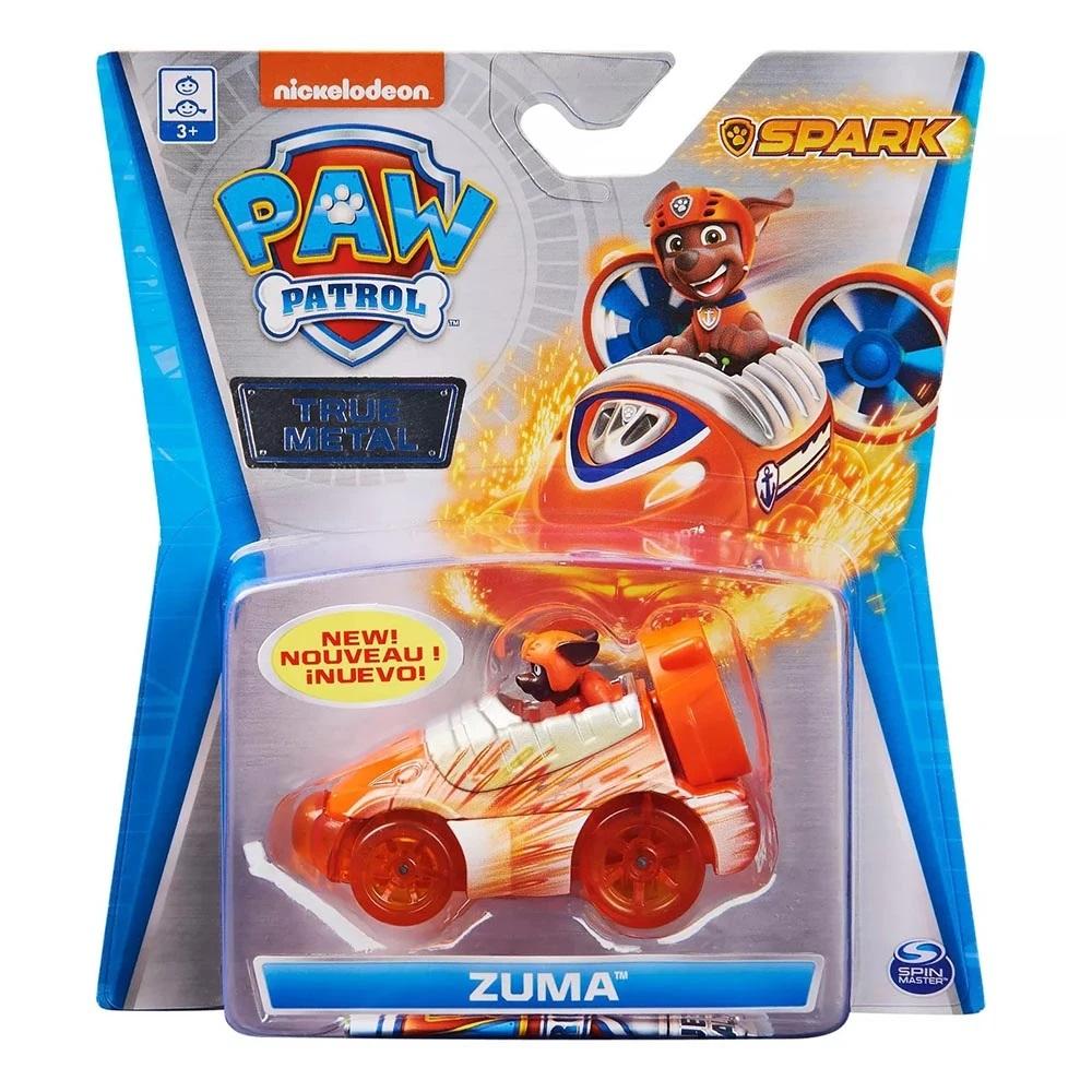 Masinuta cu figurina Paw Patrol True Metal, Zuma, 20130500