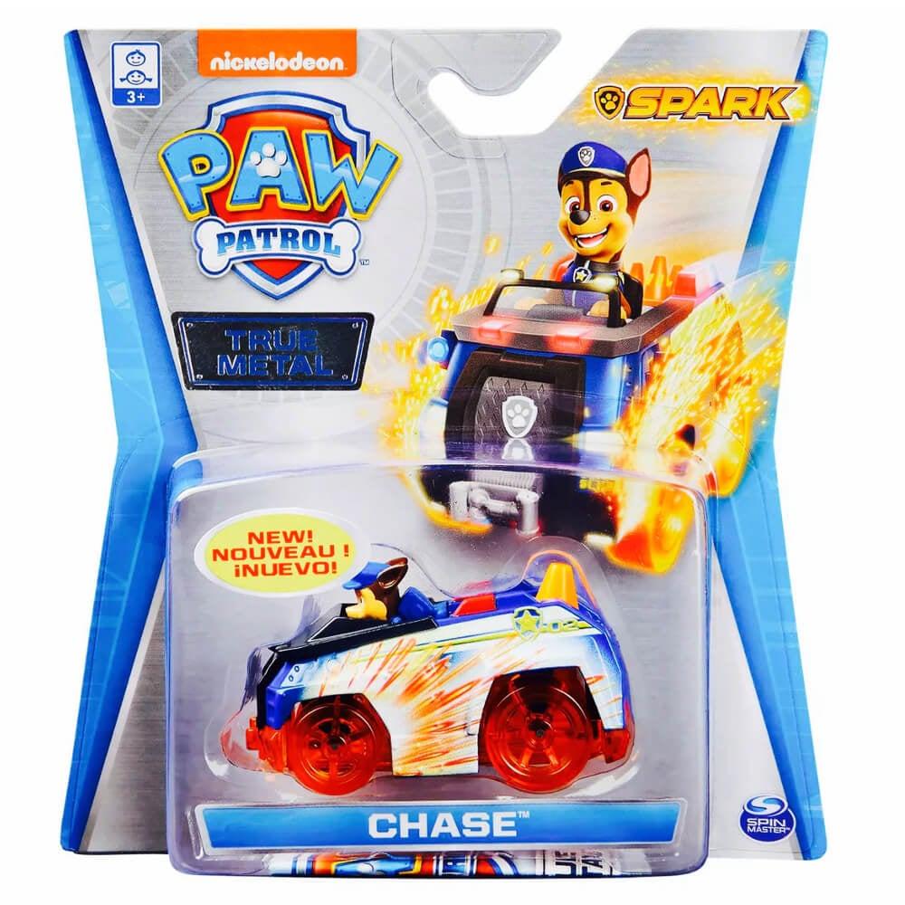 Masinuta cu figurina Paw Patrol True Metal, Chase, 20127778