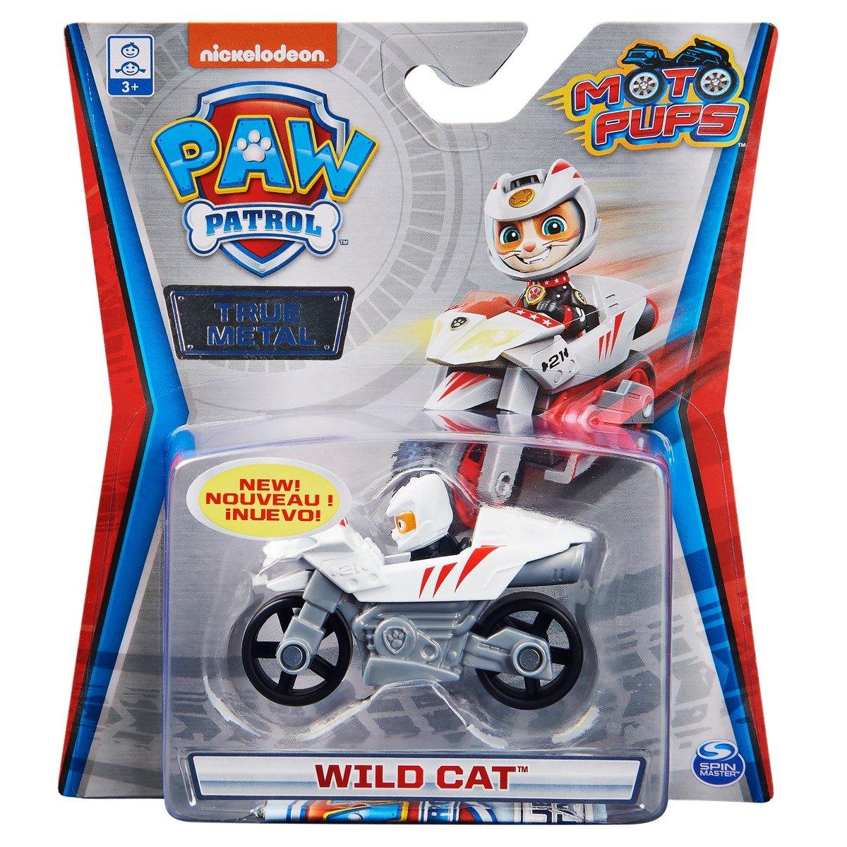 Masinuta cu figurina Paw Patrol True Metal, Wild Cat, 20130497