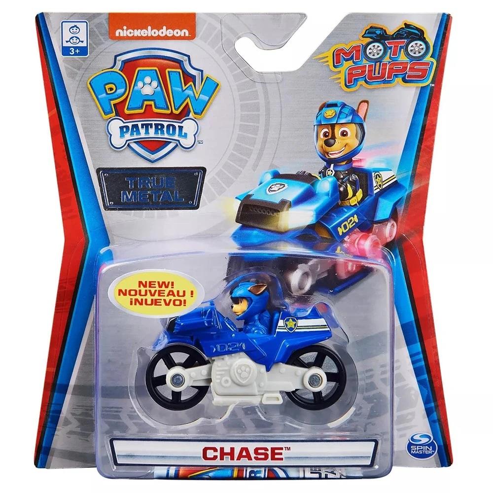 Masinuta cu figurina Paw Patrol True Metal, Chase, 20127775