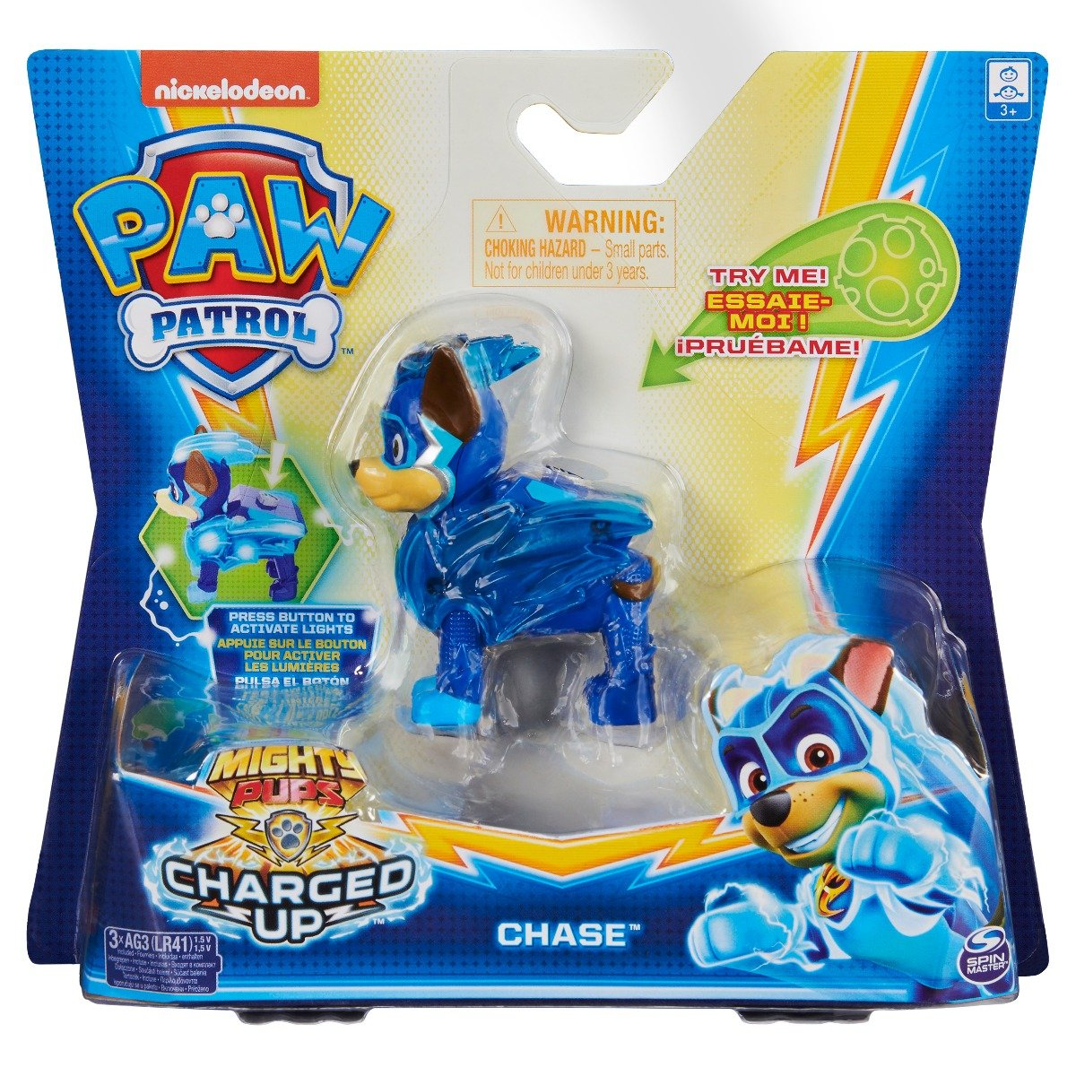 Figurina Paw Patrol Mighty Pups, Chase 20122532
