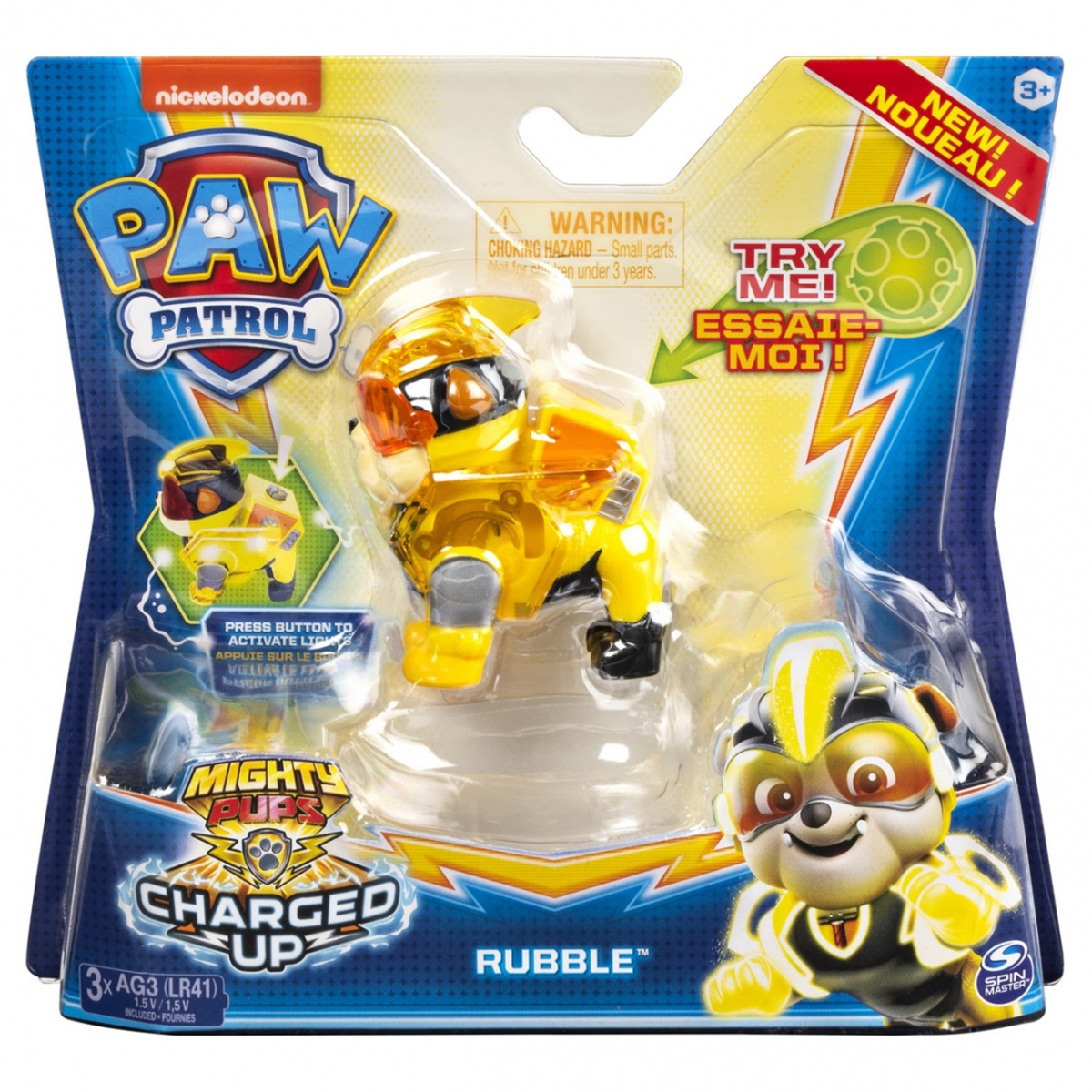 Figurina Paw Patrol Mighty Pups, Rubble 20122535