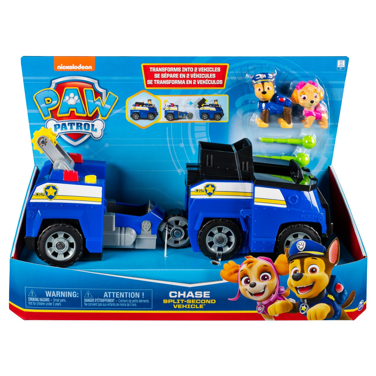 Set Masinuta cu figurine Paw Patrol Split Second Vehicle 20122545