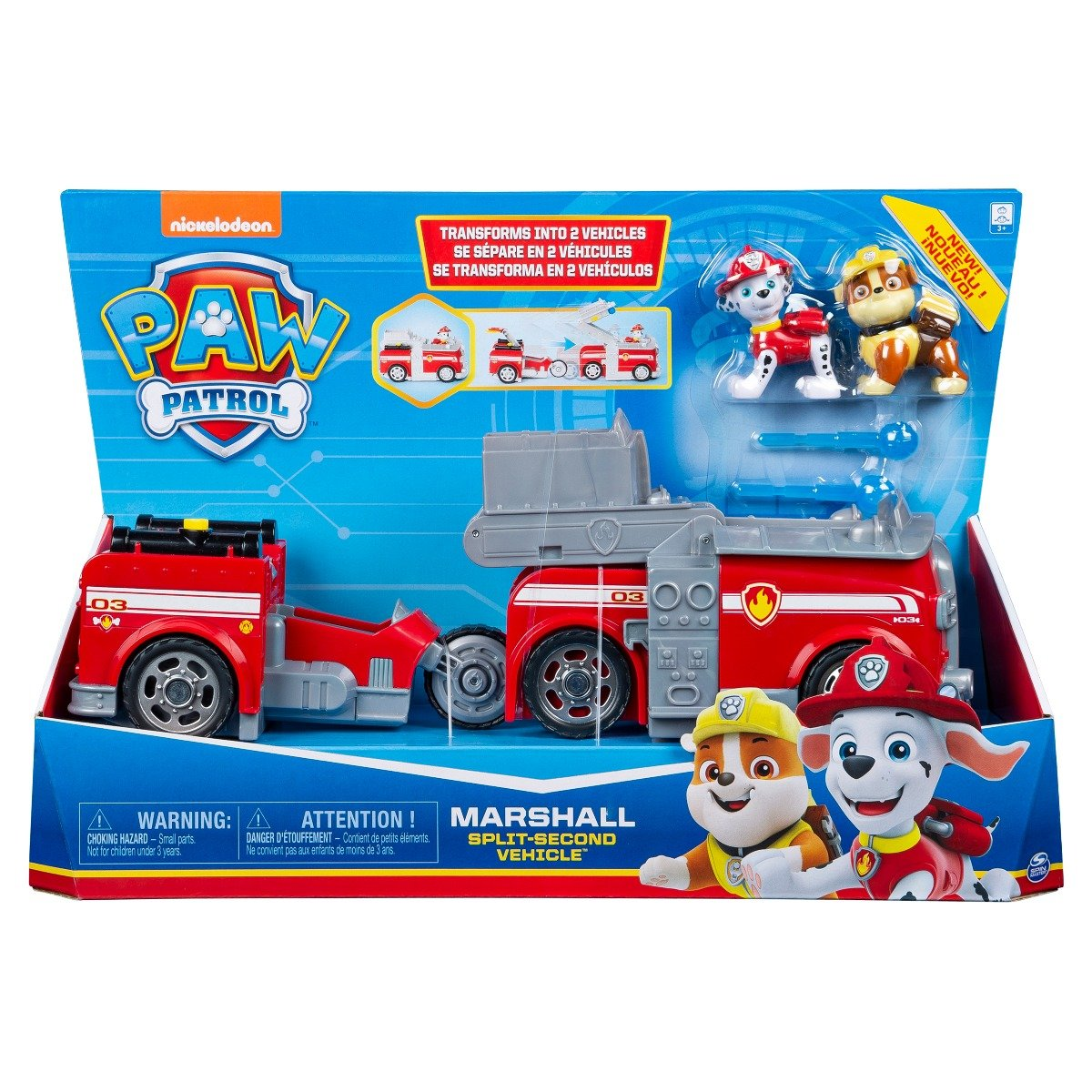 Set Masinuta cu figurine Paw Patrol Split Second Vehicle 20122546