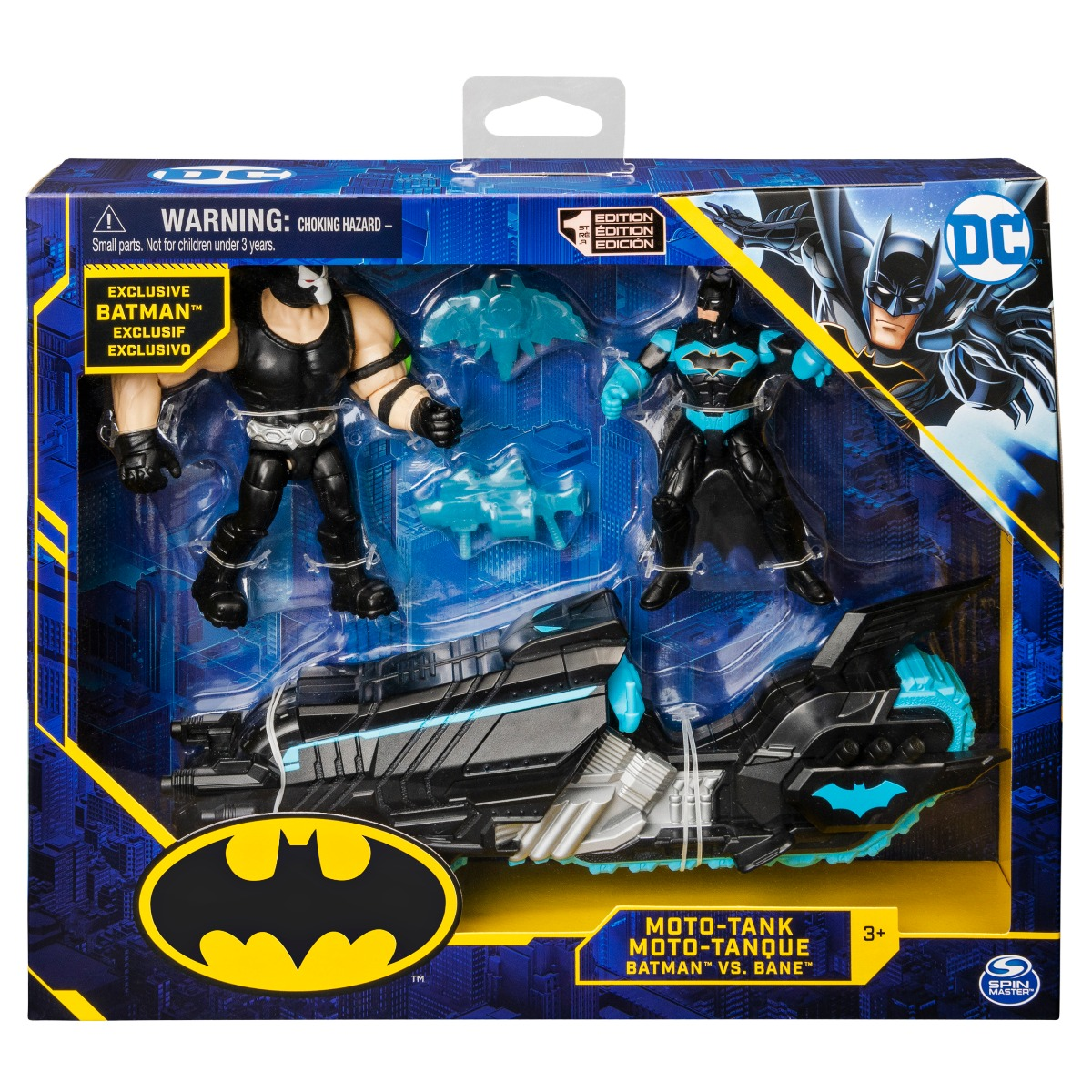 Set 2 figurine Batman cu motocicleta, Moto-Tank, Batman vs Bane