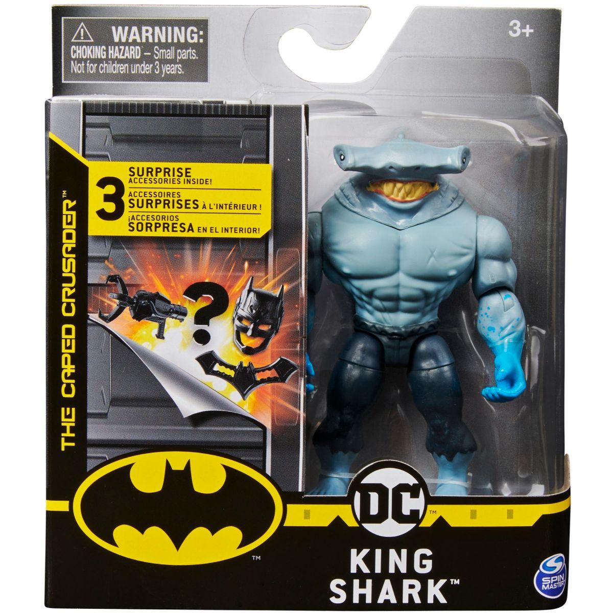 Set Figurina cu accesorii surpriza Batman, King Shark, 20125782