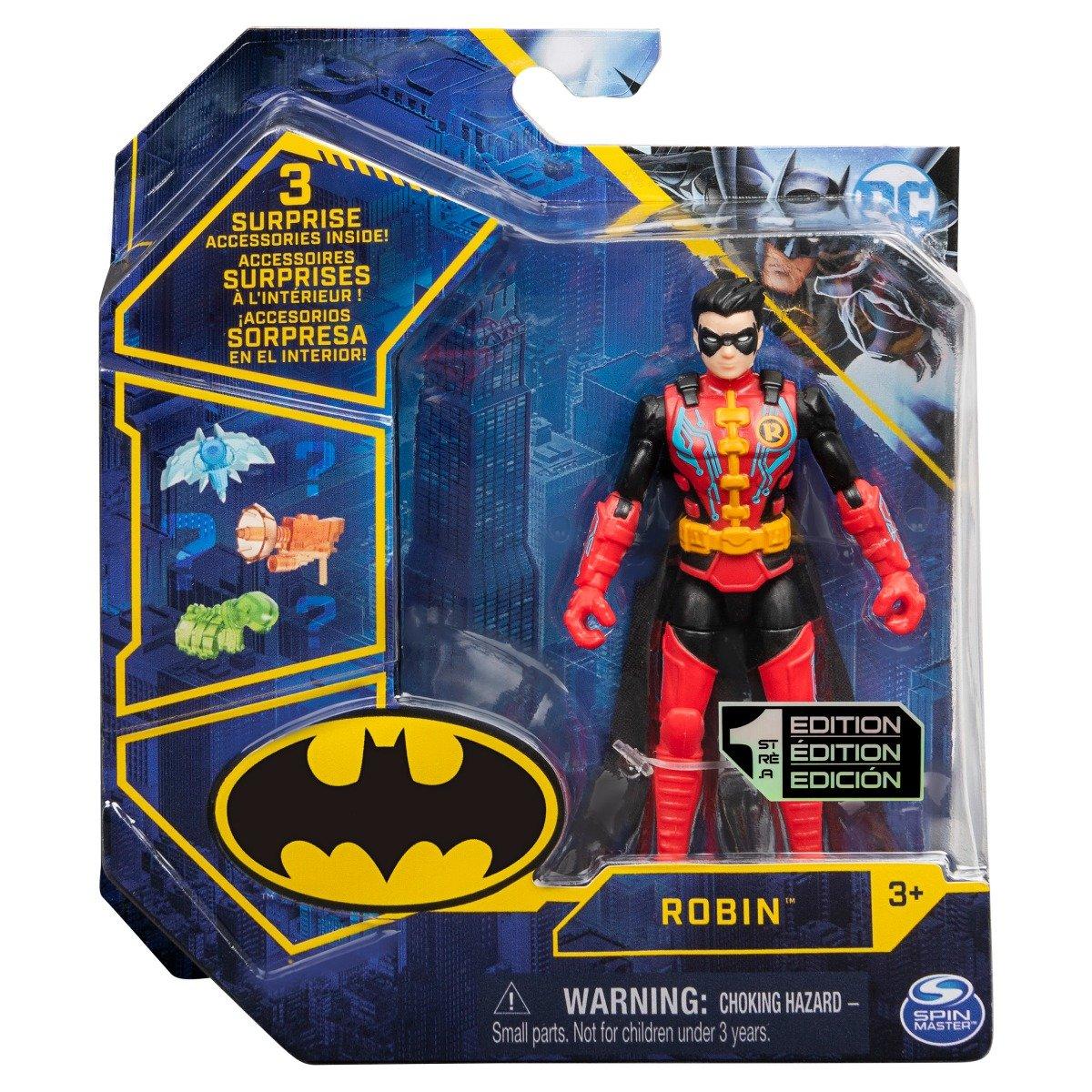 Set Figurina cu accesorii surpriza Batman, Robin 20129813