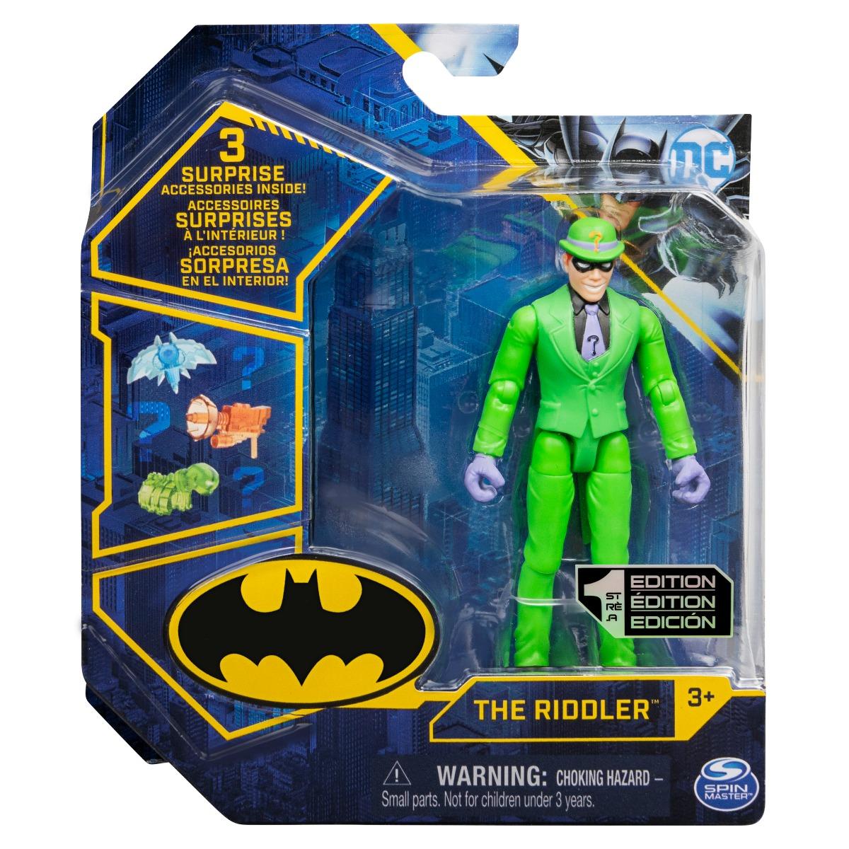 Set Figurina cu accesorii surpriza Batman, The Riddler, 20129812