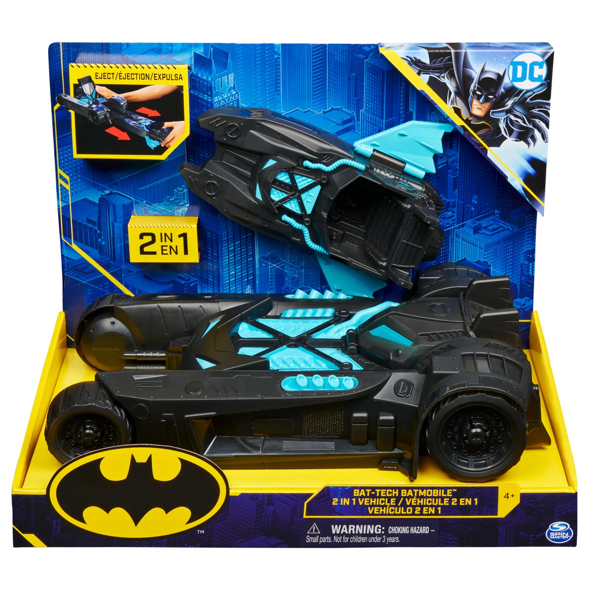 Masinuta 2 in 1 Batman, Bat-Tech Batmobile