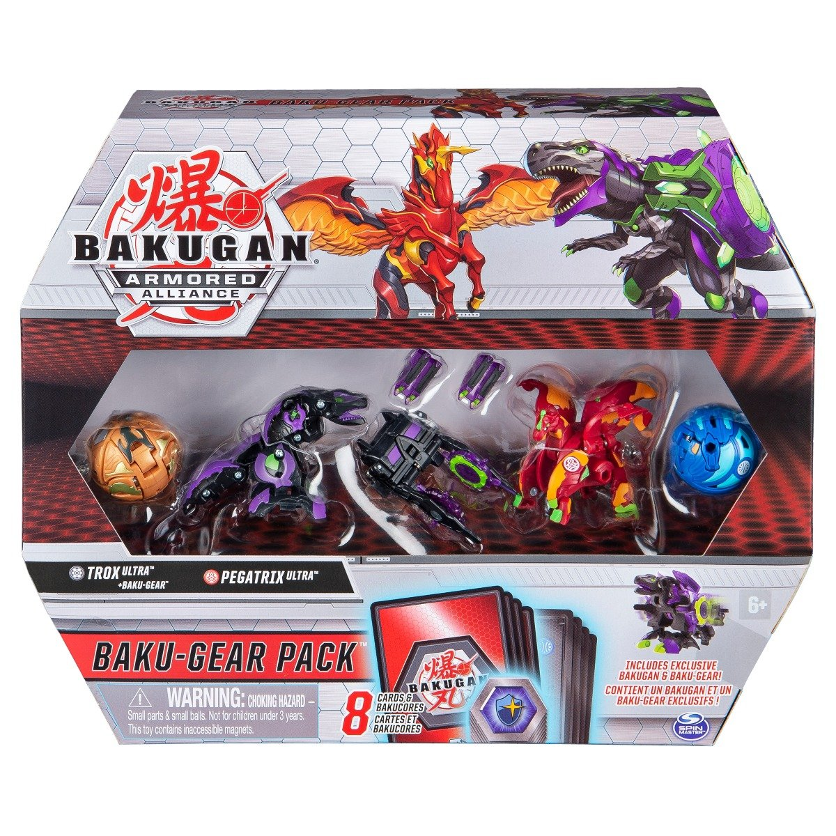 Set 4 Bakugan Armored Alliance, Trox, Pegatrix, 20122677