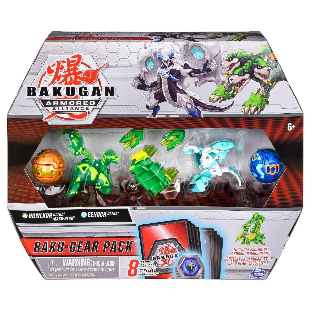 Set 4 Bakugan Armored Alliance, Howlkor Ultra, Eenoch Ultra, 20124160