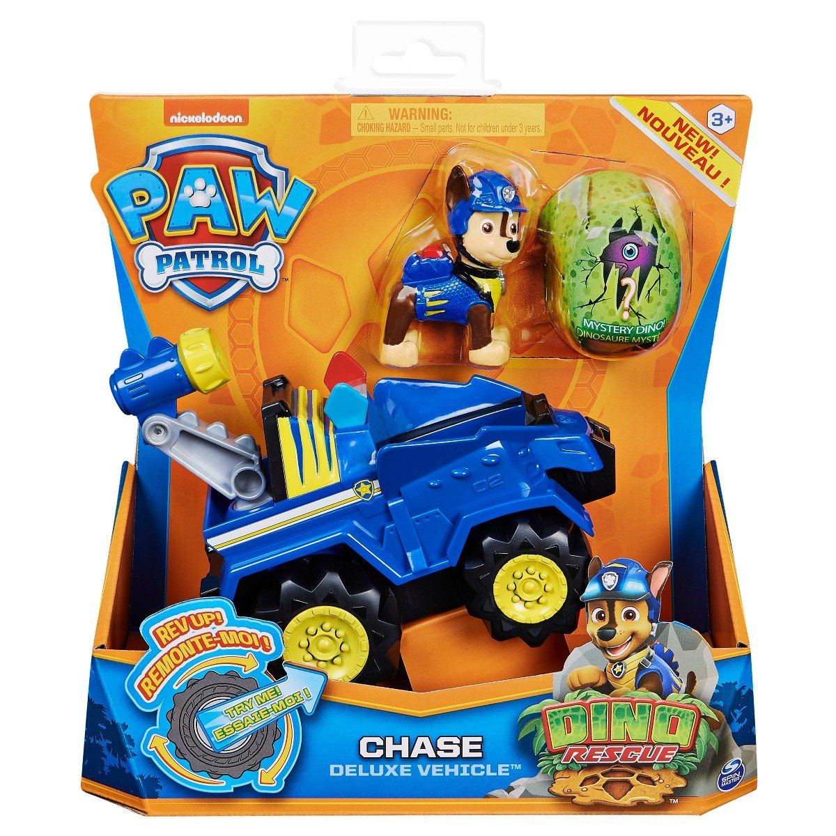 Figurina si vehicul Paw Patrol Dino Rescue, Chase 20124740