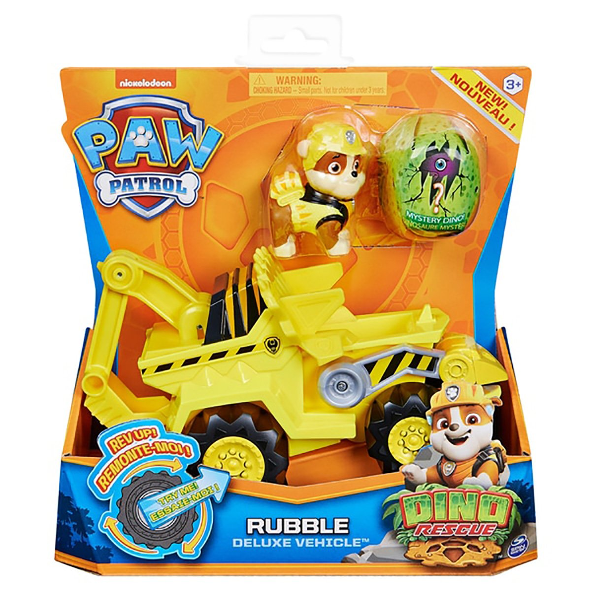 Figurina si vehicul Paw Patrol Dino Rescue, Rubble 20124742