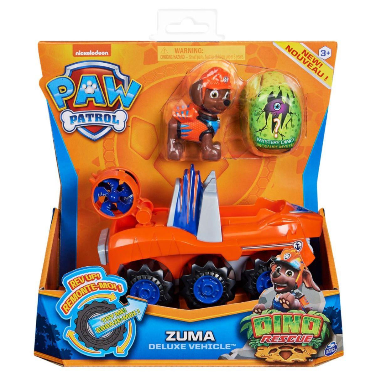 Figurina si vehicul Paw Patrol Dino Rescue, Zuma, 20126724