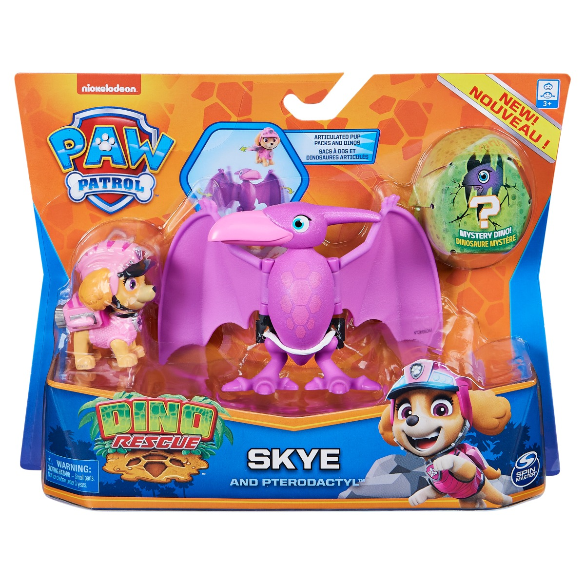 Set 2 figurine Paw Patrol Dino Rescue, Skye and Pterodactyl, 20126401
