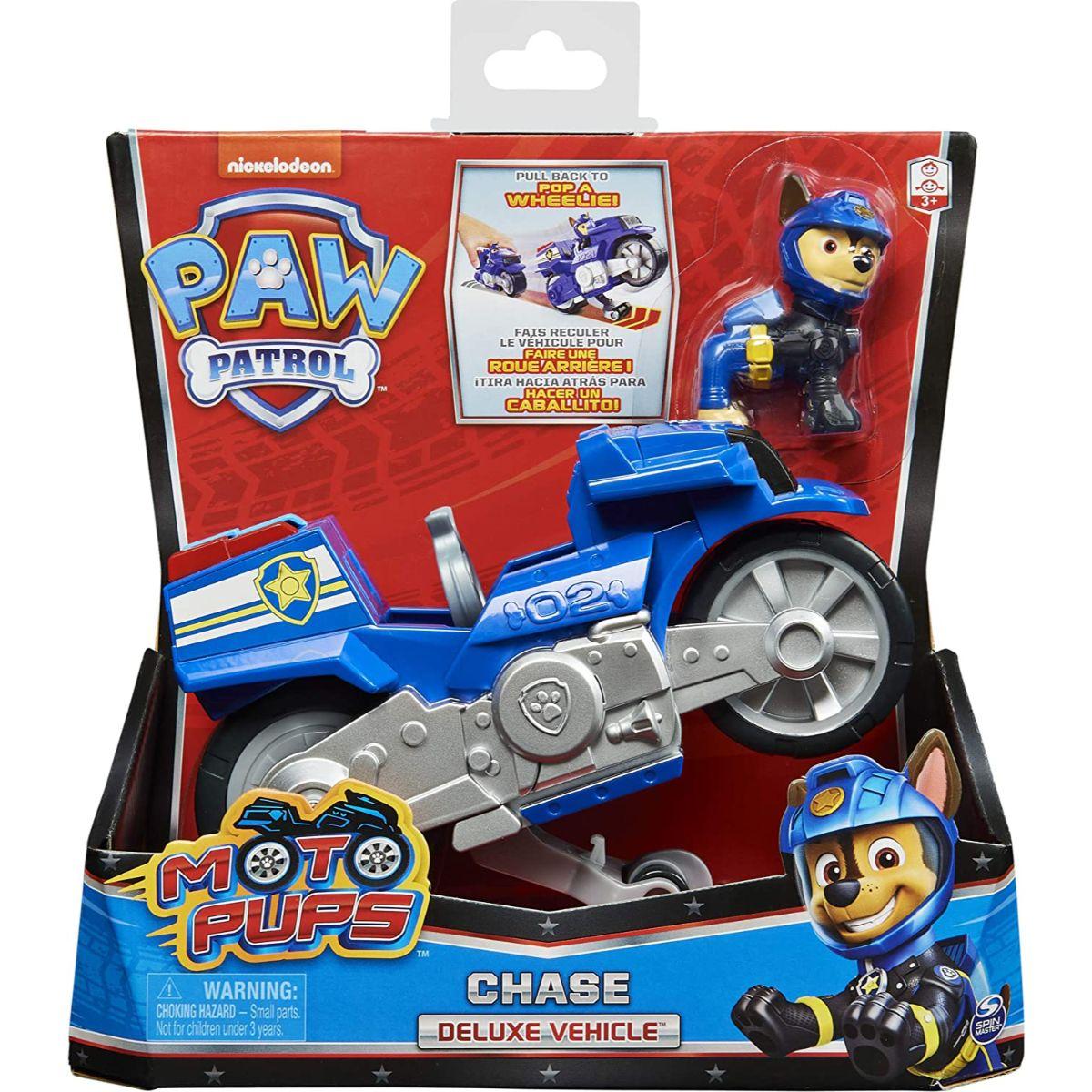 Motocicleta si figurina Paw Patrol Moto Pups, Chase, 20127783