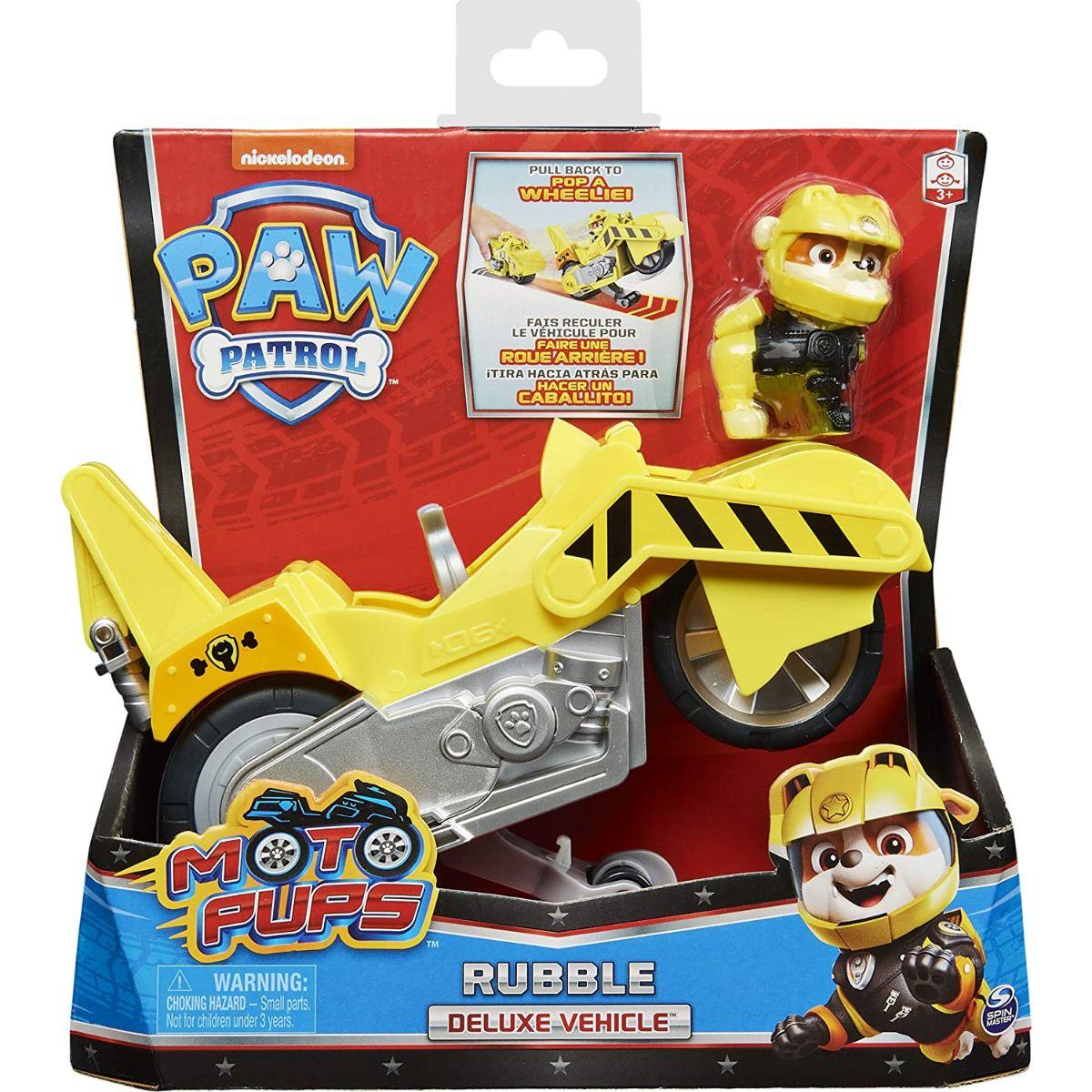 Motocicleta si figurina Paw Patrol Moto Pups, Rubble, 20127785