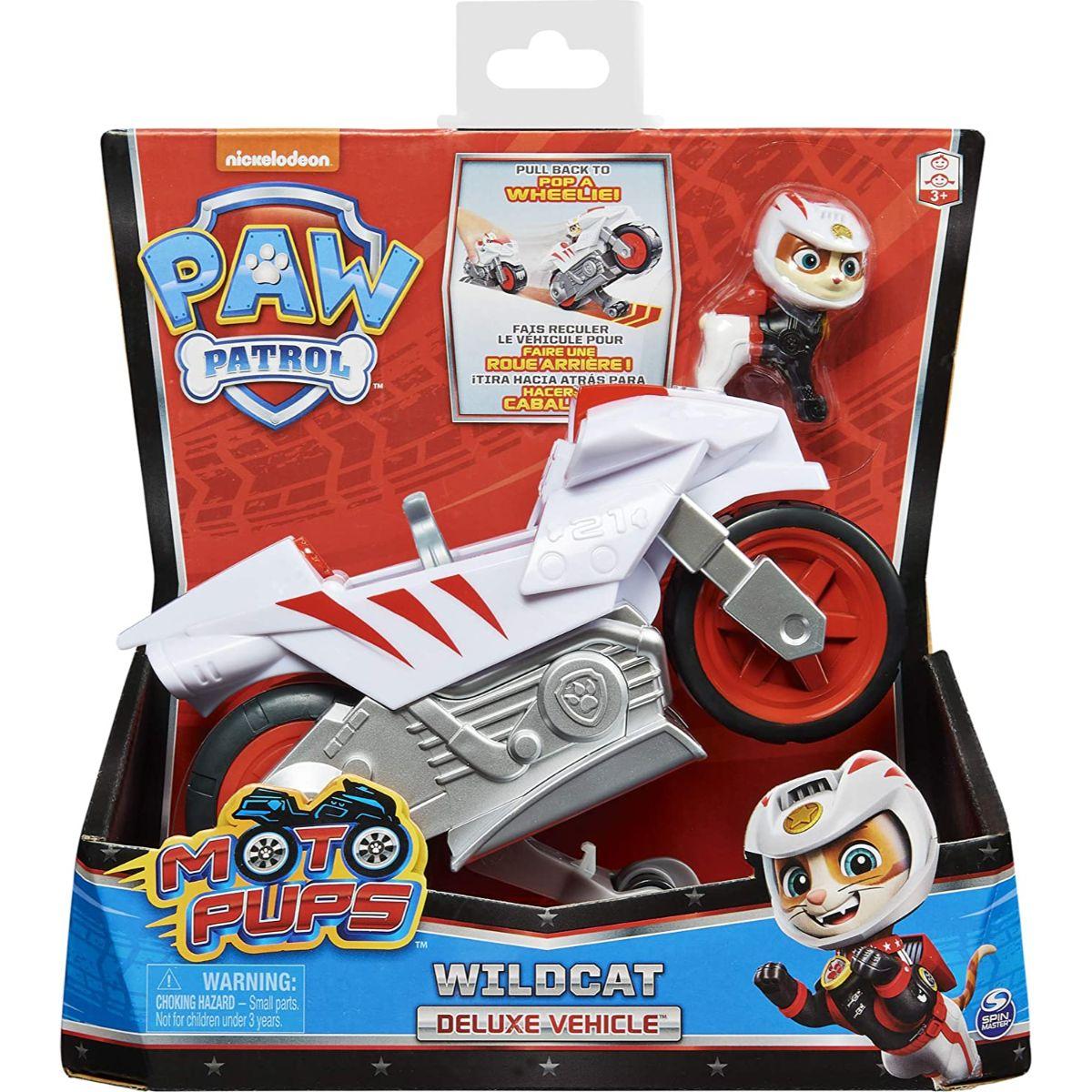 Motocicleta si figurina Paw Patrol Moto Pups, Wildcat, 20130047