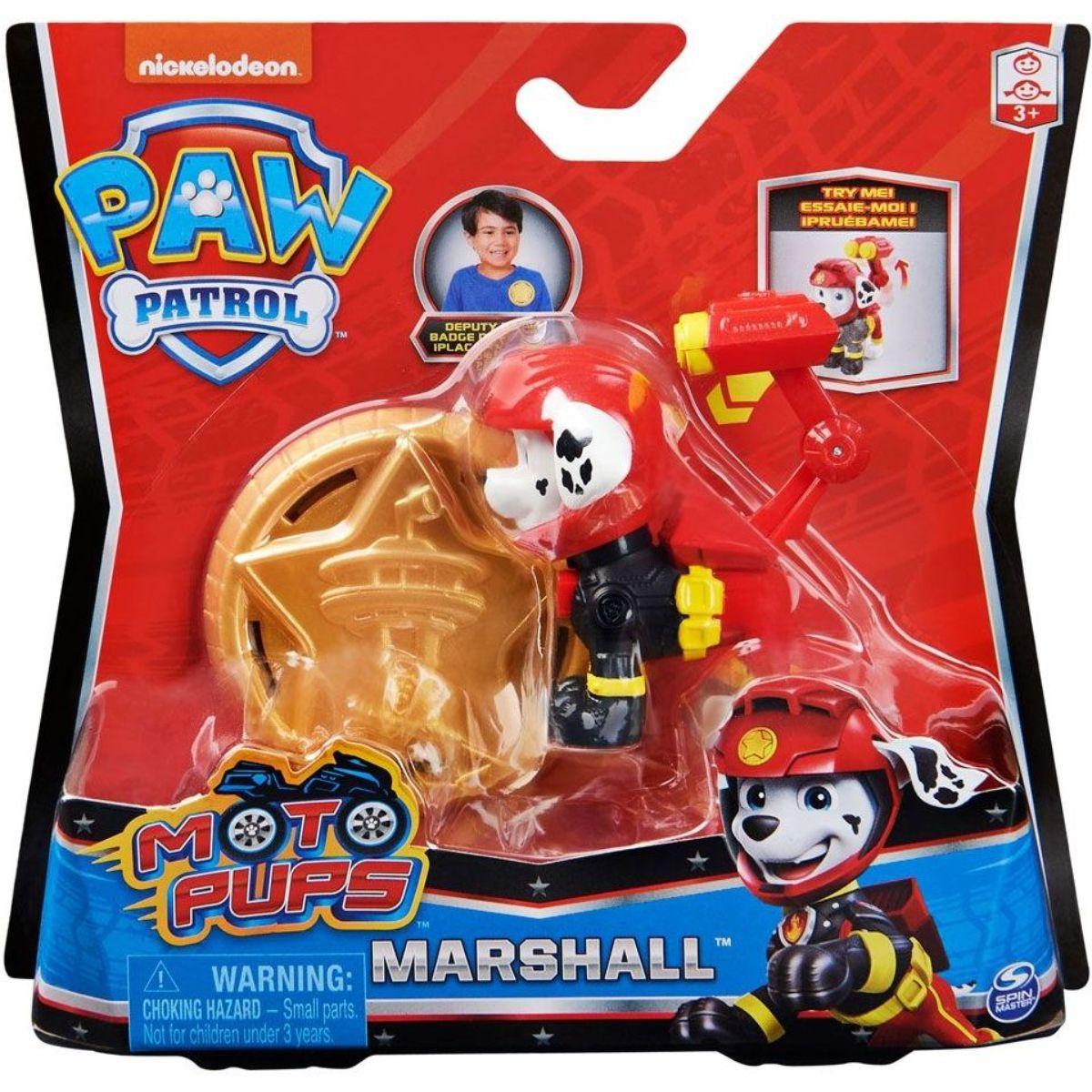 Figurina Paw Patrol Moto Pups, Marshall, 20128241