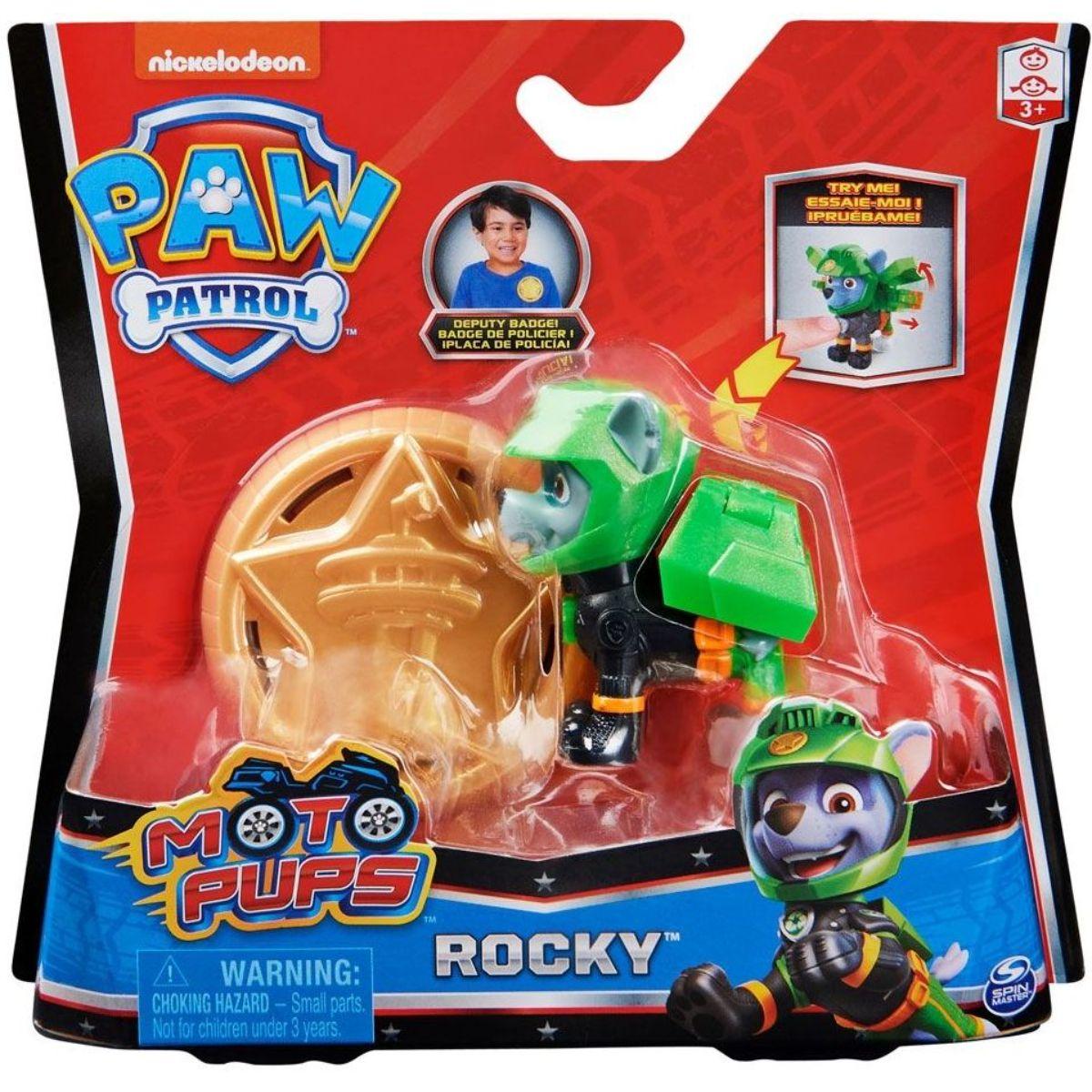 Figurina Paw Patrol Moto Pups, Rocky, 20130054