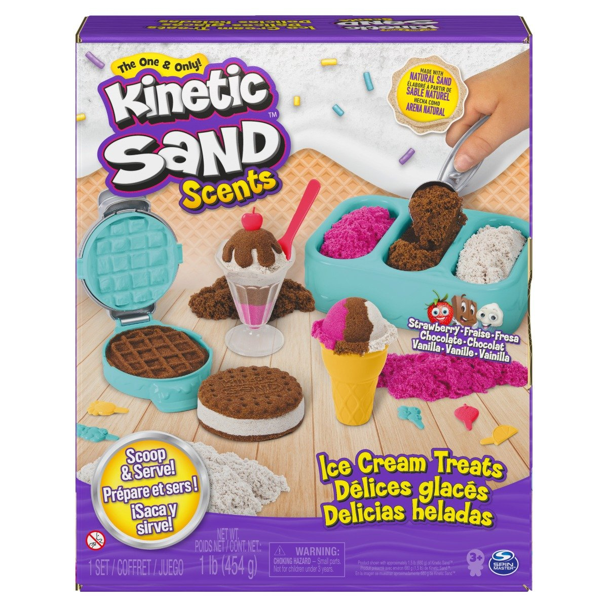 Set de creatie Kinetic Sand, Ice Cream Treats