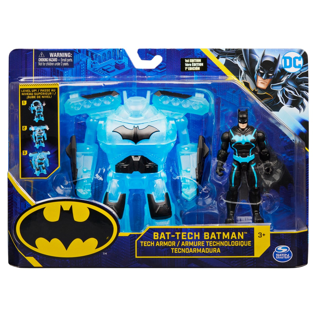 Figurina Bat-Tech Batman Mega Gear, 10 cm