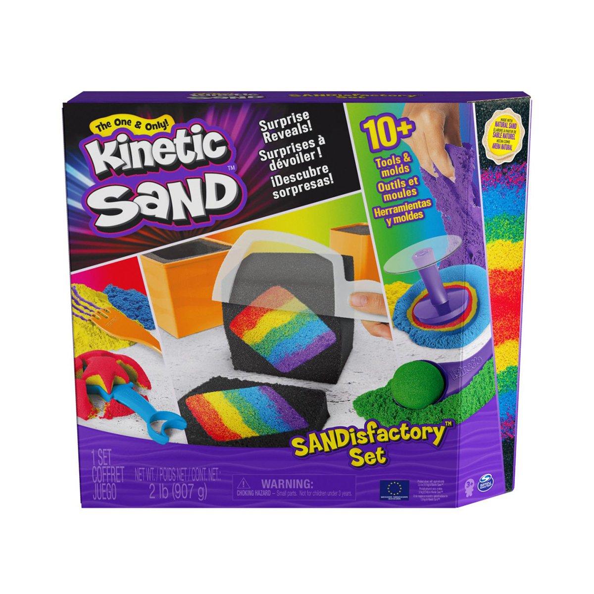 Set nisip, Kinetic Sand, Sandisfactory, 900g