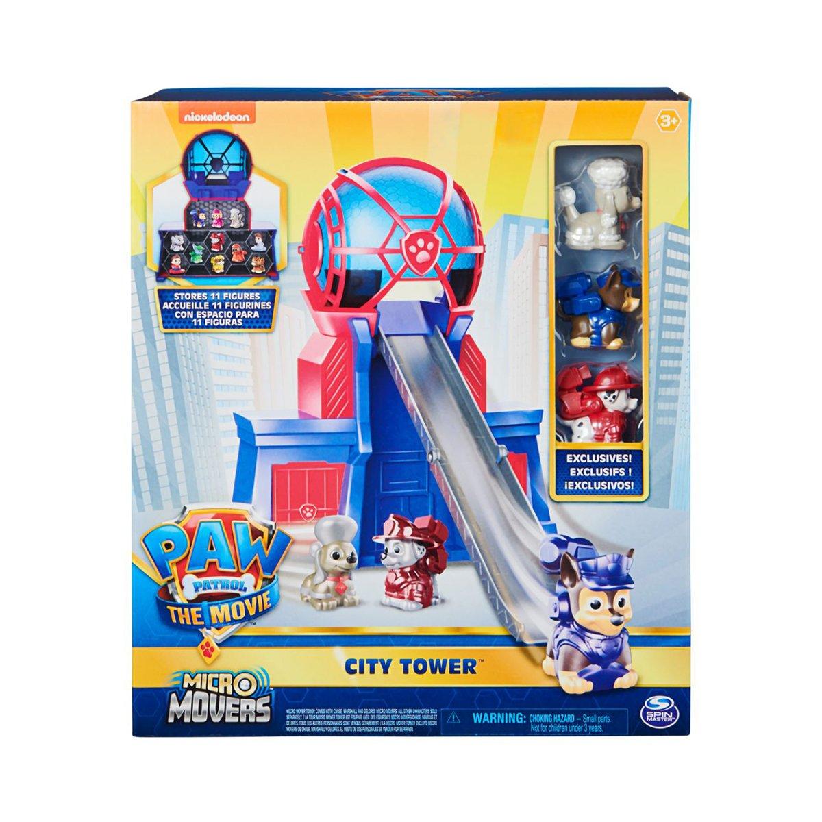 Set de joaca, Paw Patrol, turnul de comanda cu micro figurine