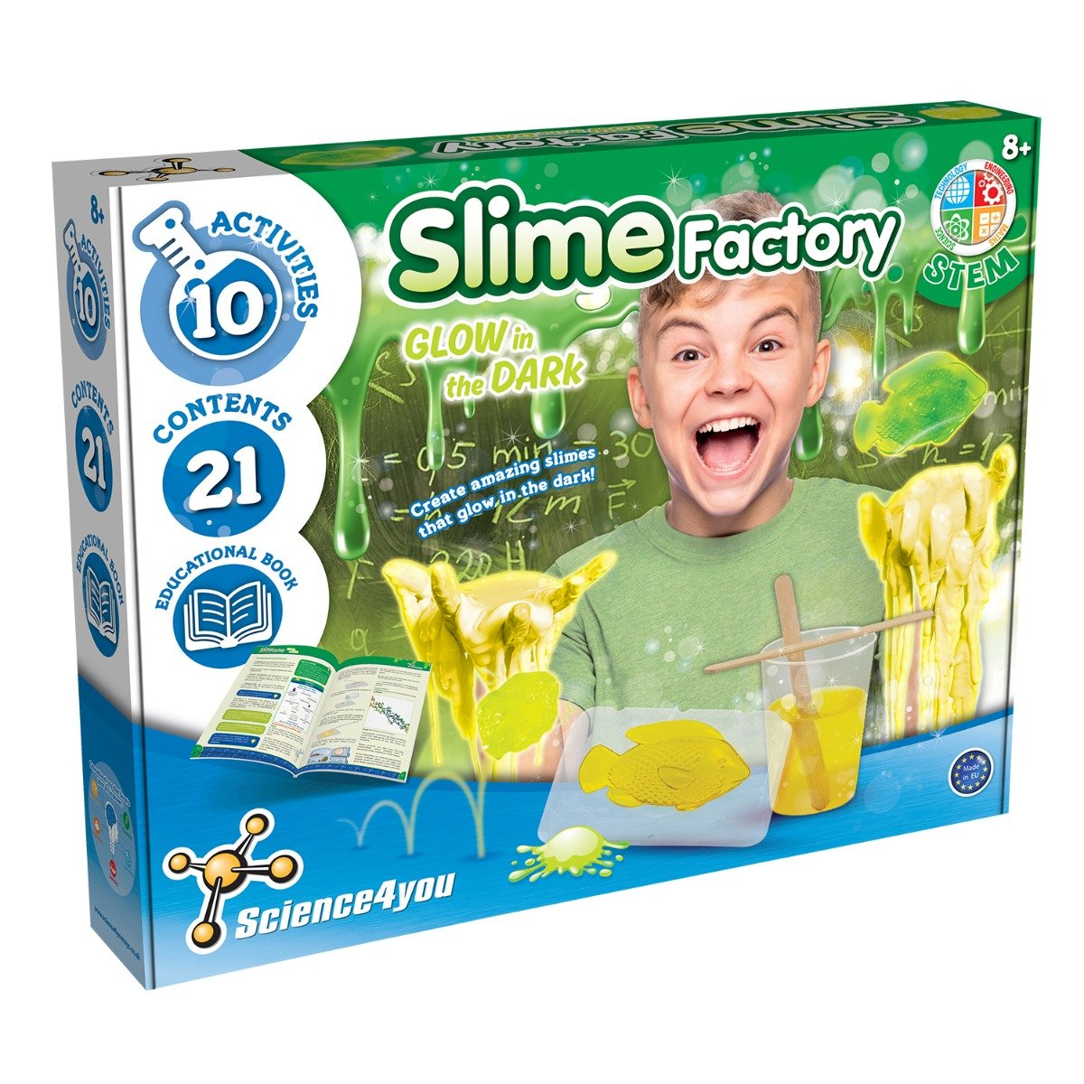 Joc educativ Science4you, fabrica de slime luminoasa