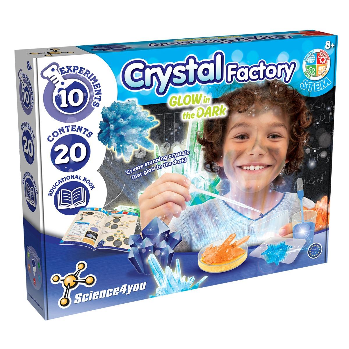 Joc educativ Science4you, fabrica de cristale luminoase