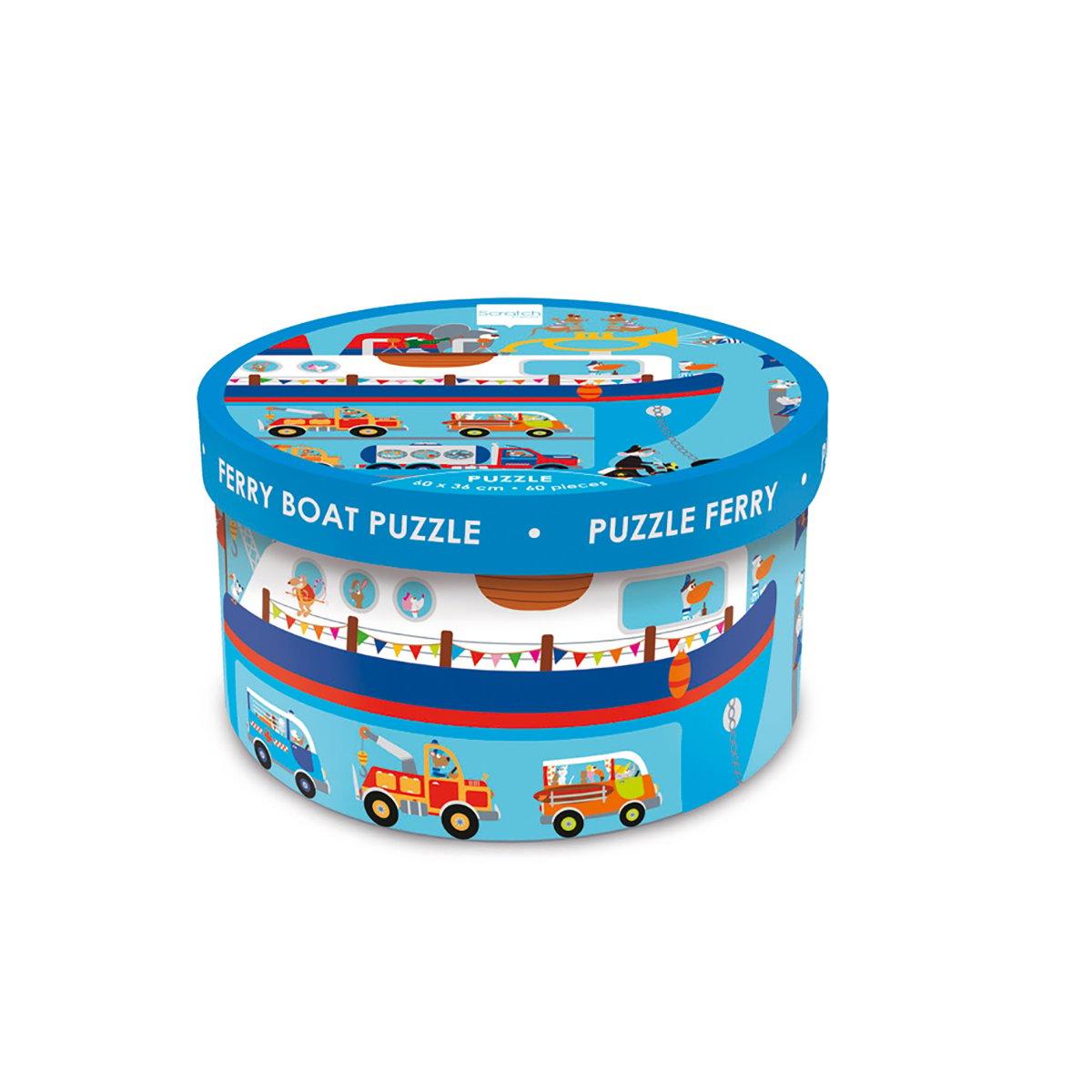 Puzzle Scratch, Feribot, 60 piese
