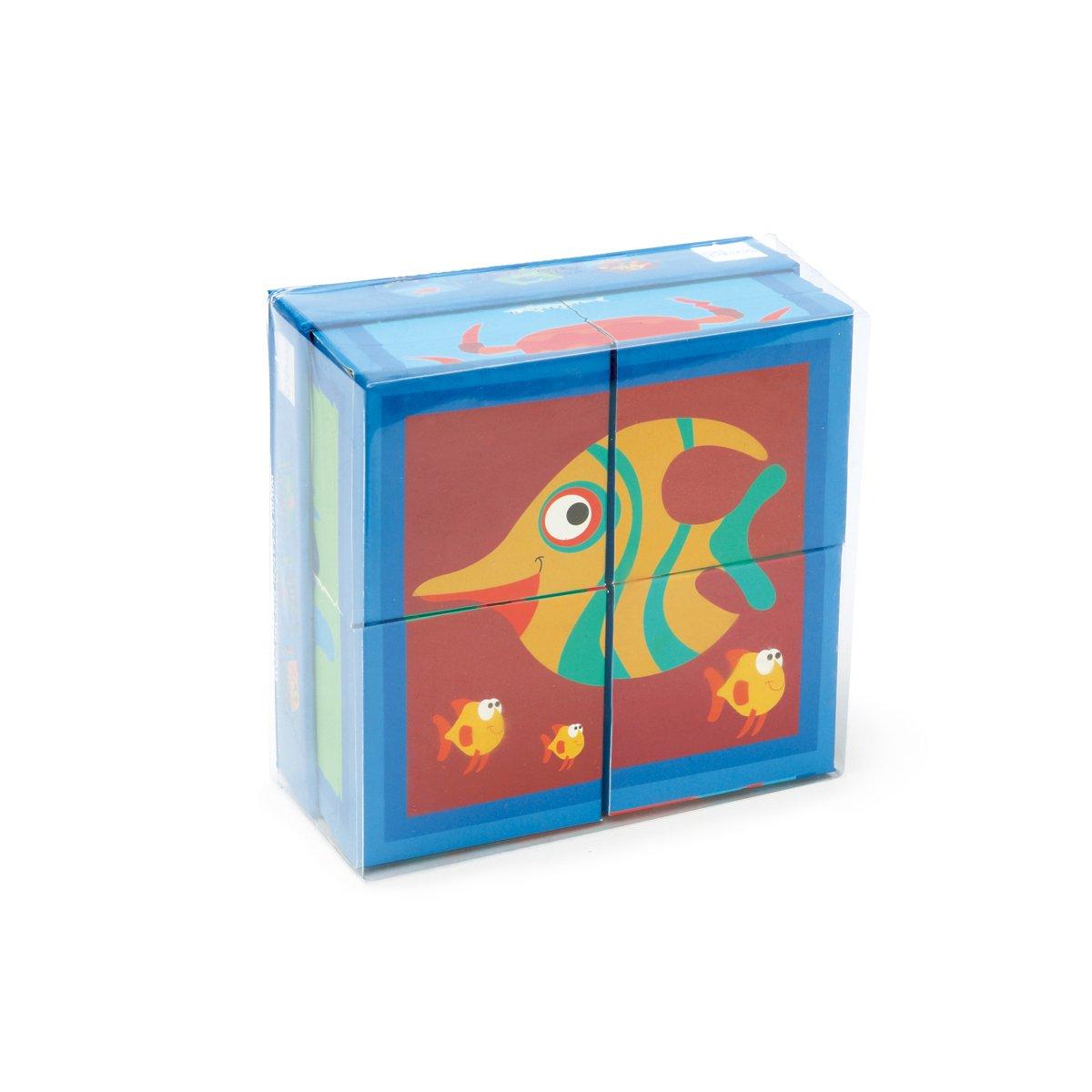 Puzzle Scratch, Ocean, 4 cuburi