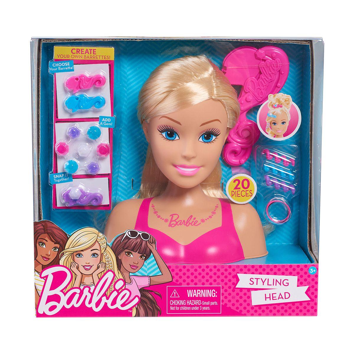 Papusa Barbie Styling Head Blonde - Manechin pentru coafat cu accesorii incluse