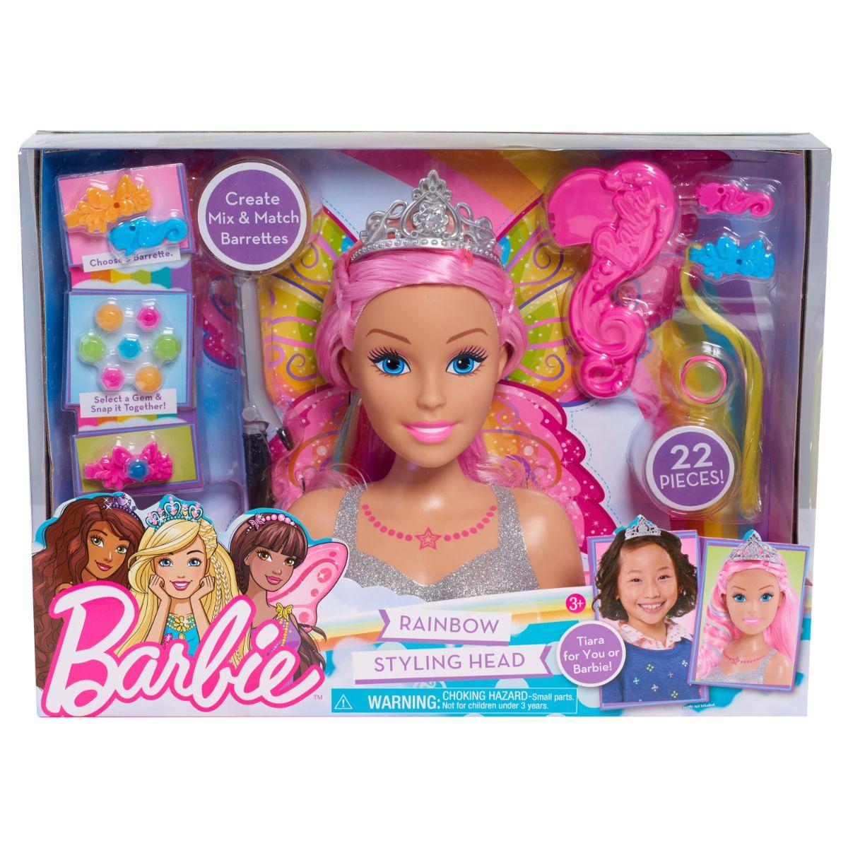 Papusa Barbie Styling Head Dreamtopia - Manechin pentru coafat cu accesorii incluse