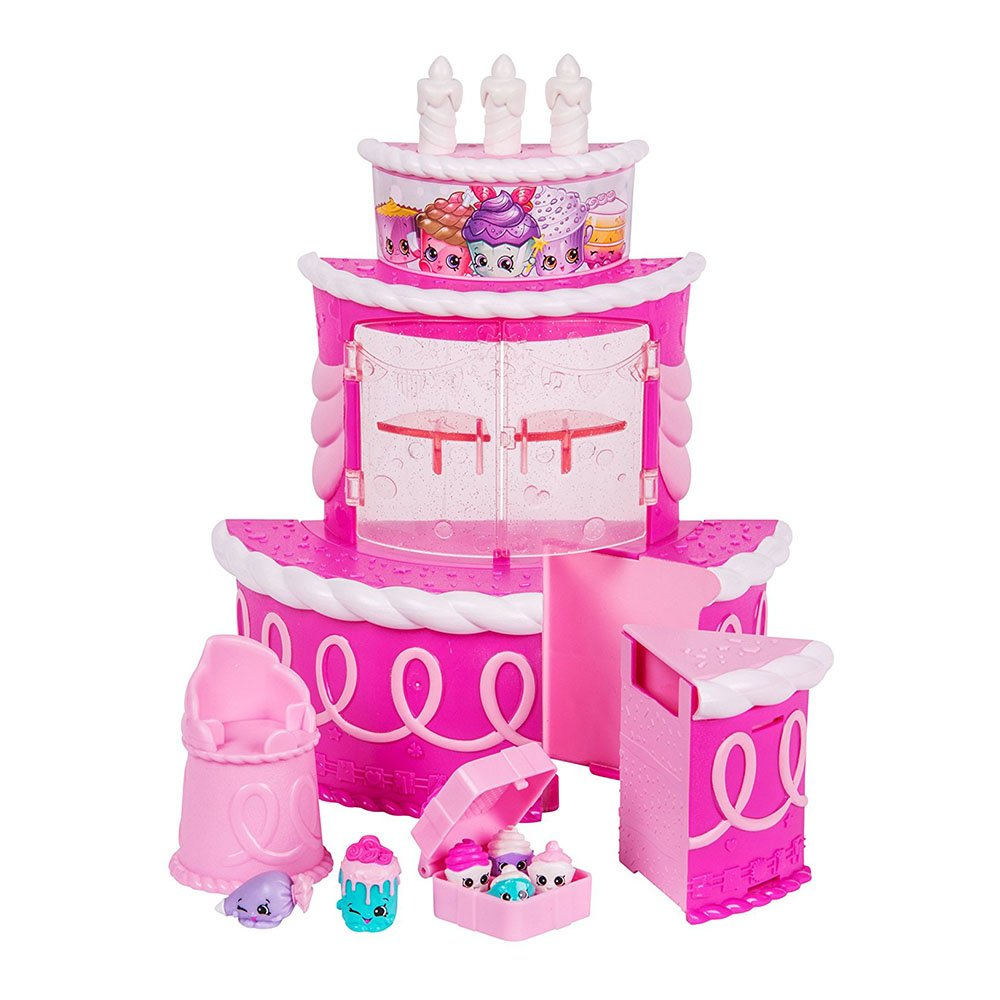 set tematic figurine shopkins join the party - birthday cake