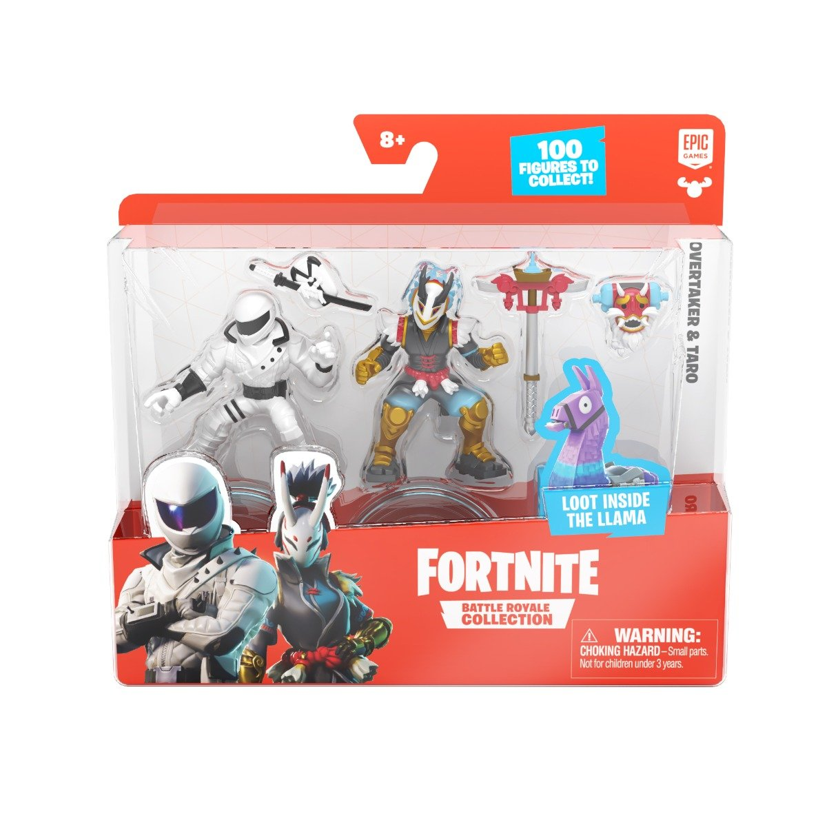 Set 2 figurine Fortnite, Overtakenr si Taro, S1, W4