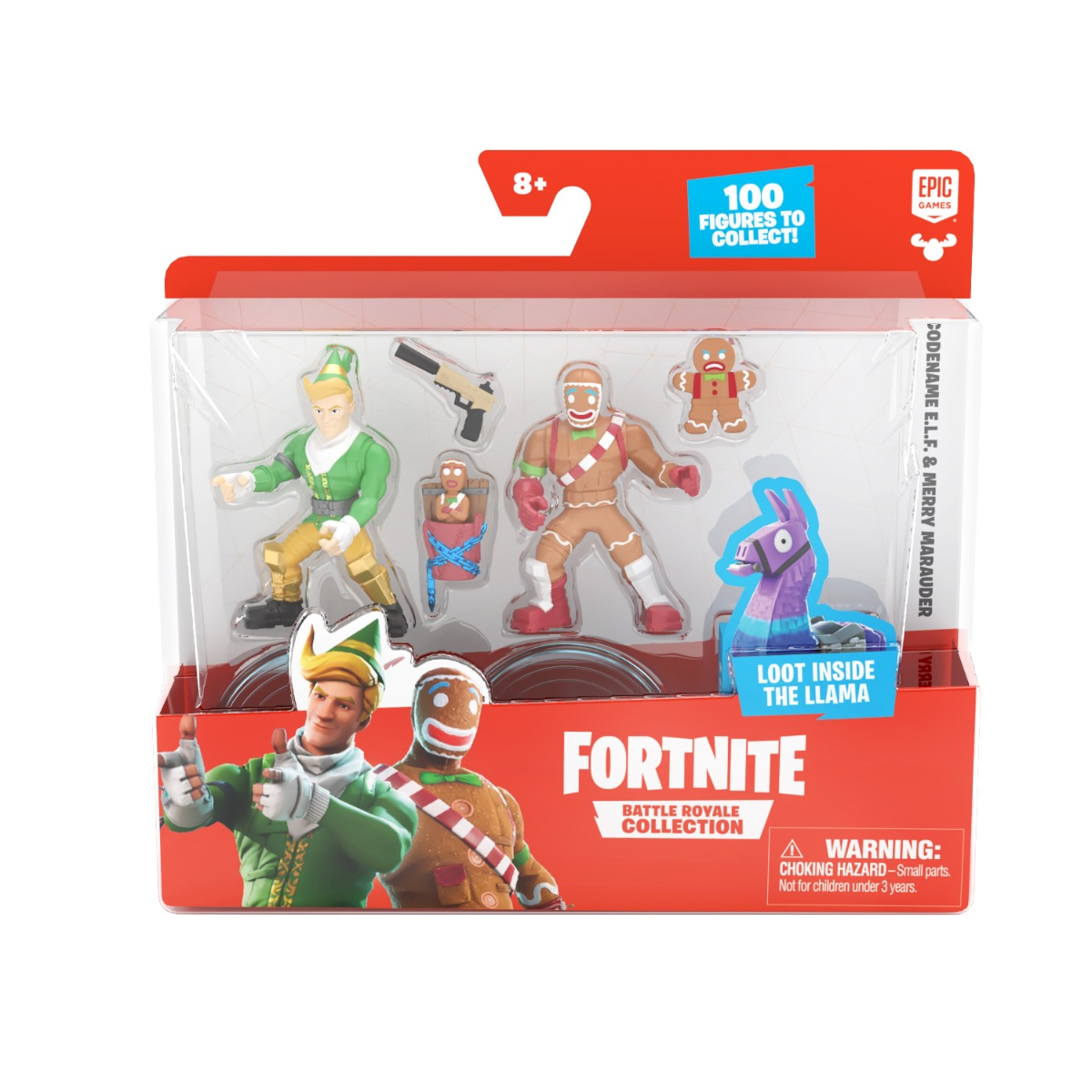 Set 2 figurine Fortnite, Merry Marauder si Codename Elf, S1, W4