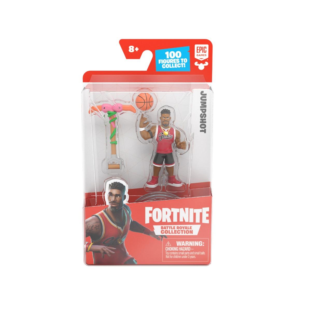 Figurina articulata cu accesorii Fortnite, Jumpshot, S1, W4
