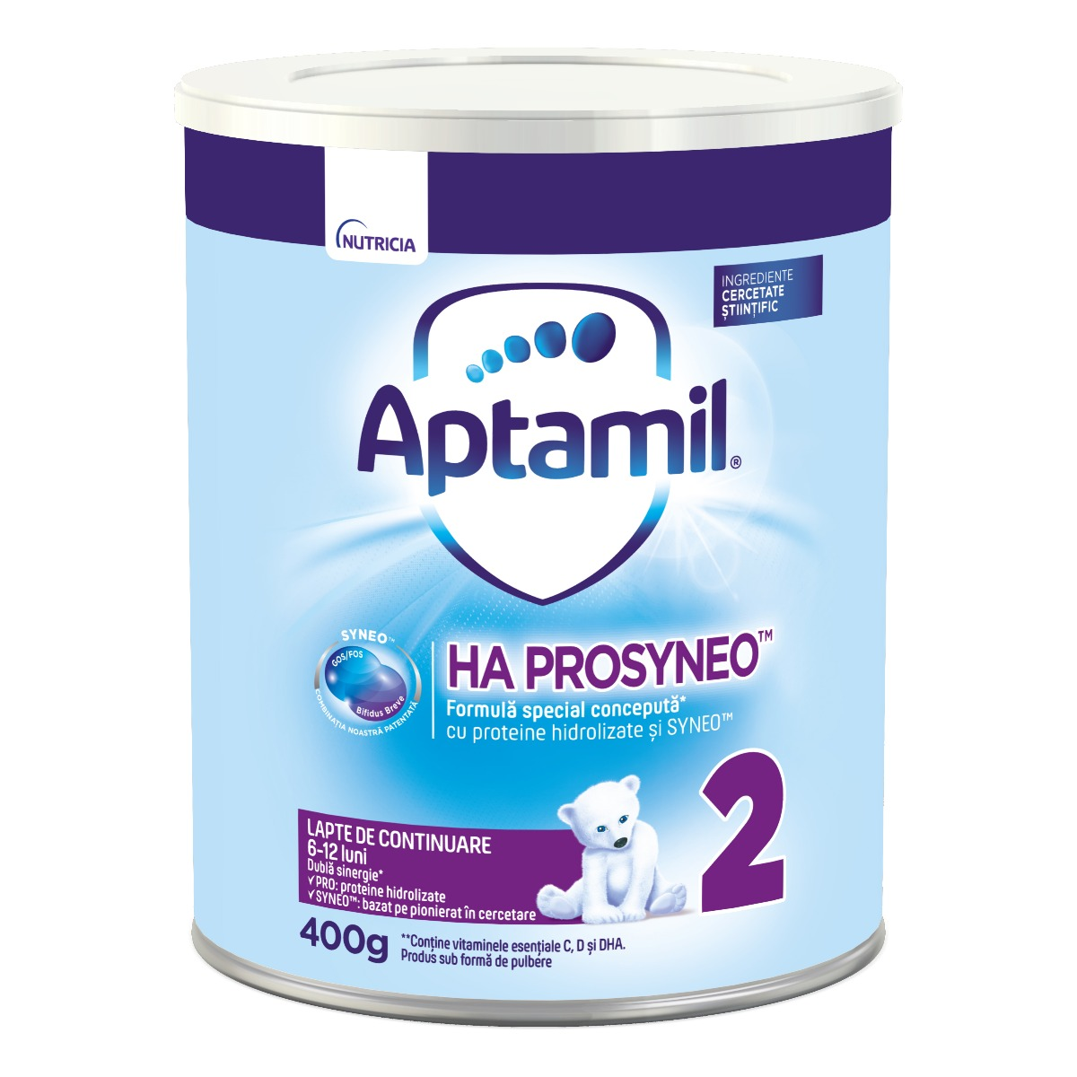 Lapte praf Aptamil Nutricia Ha Prosyneo 2, 400 g, 6-12 luni imagine