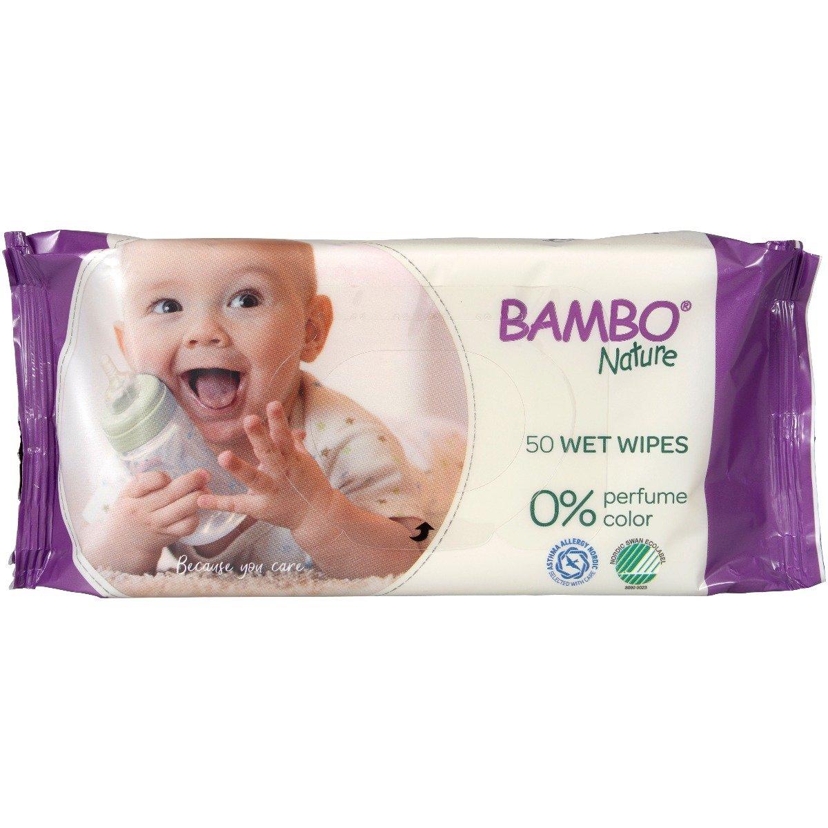 Servetele umede Bambo Nature, 50 buc imagine