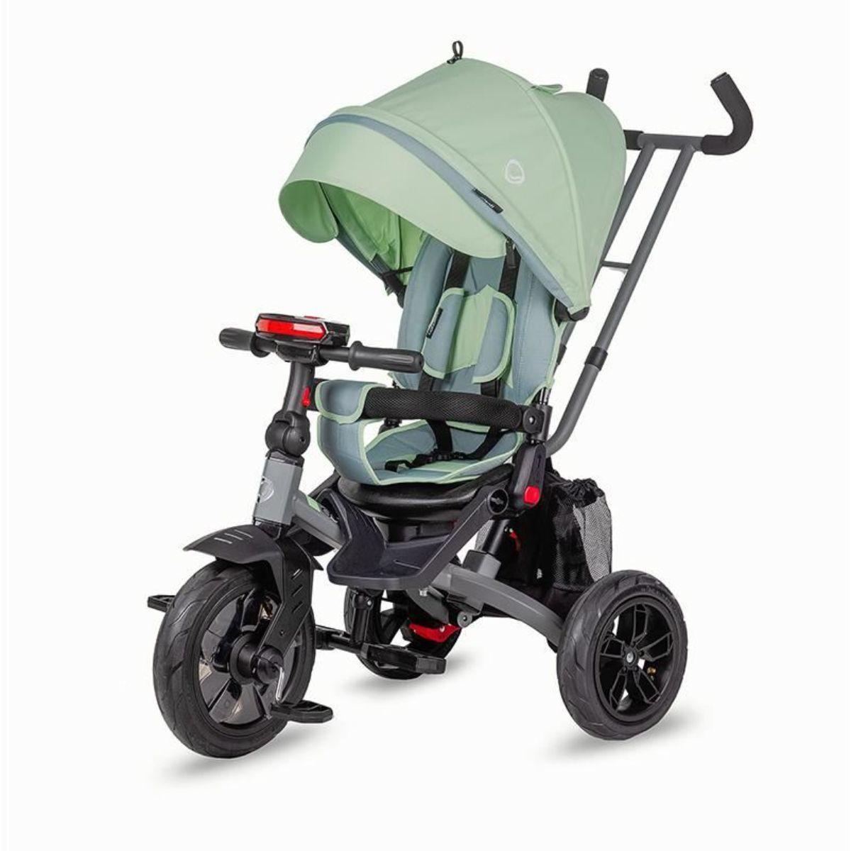 Tricicleta Multifunctionala Coccolle Pianti, Mint Green