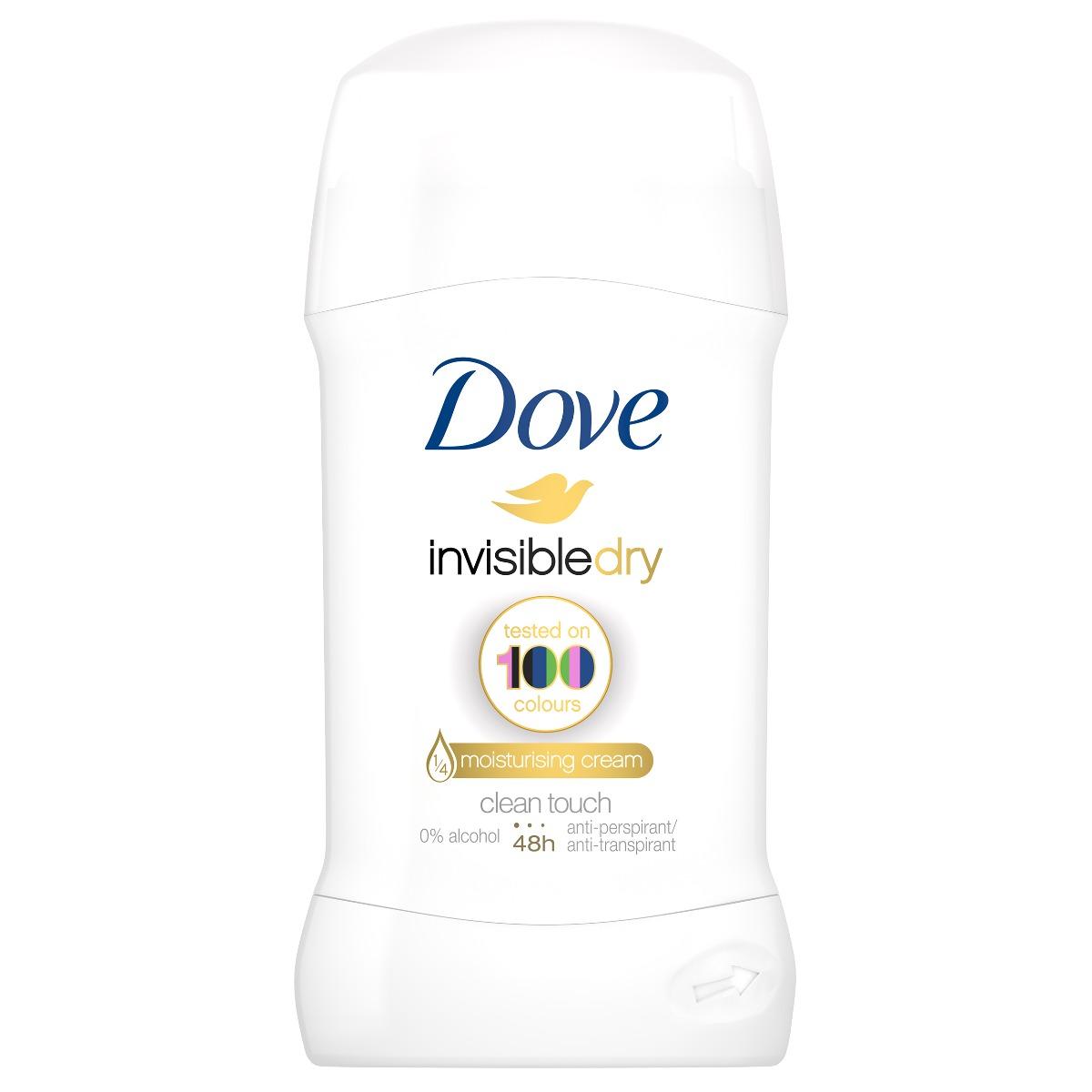 Deodorant stick Dove Invisible Dry, 40 ml imagine